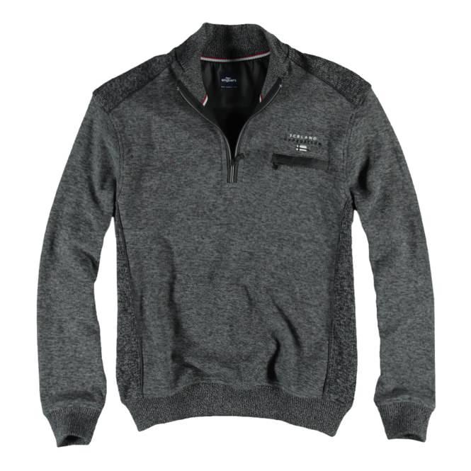 herren sweatshirt stehbund in zementgrau gro e gr en engbers. Black Bedroom Furniture Sets. Home Design Ideas