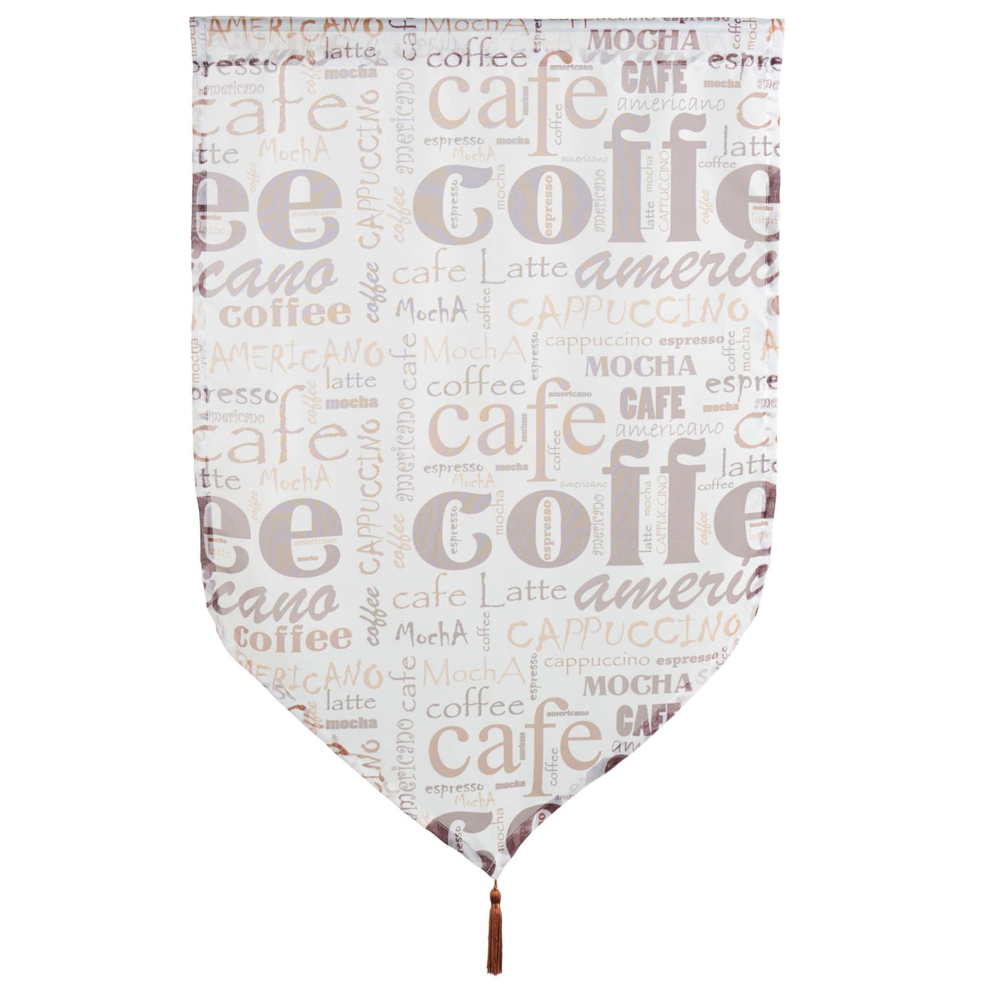 Kurzgardine Kaffee, Gr. 60 x 90 cm