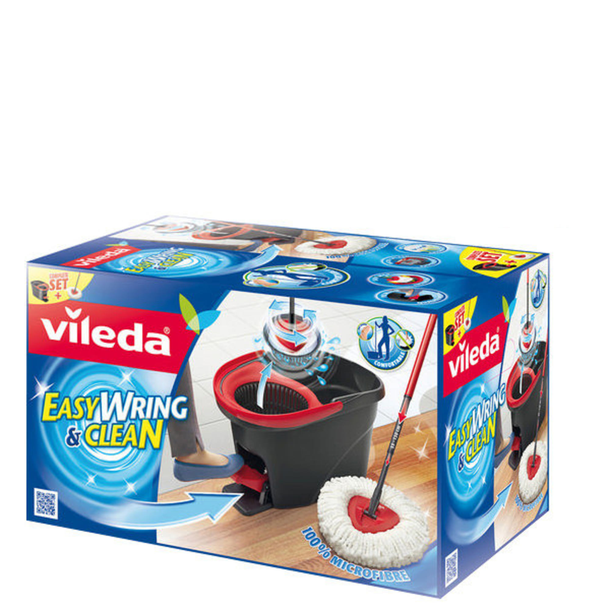 Vileda Easy Wring and Clean Wischmop-Set, Gr. 130 cm