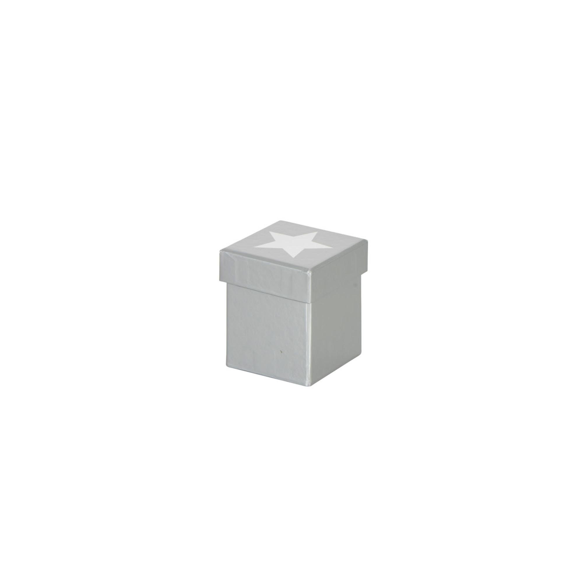 Geschenkkarton Stern, Gr. 7,7 x 7,7 x 8,4 cm