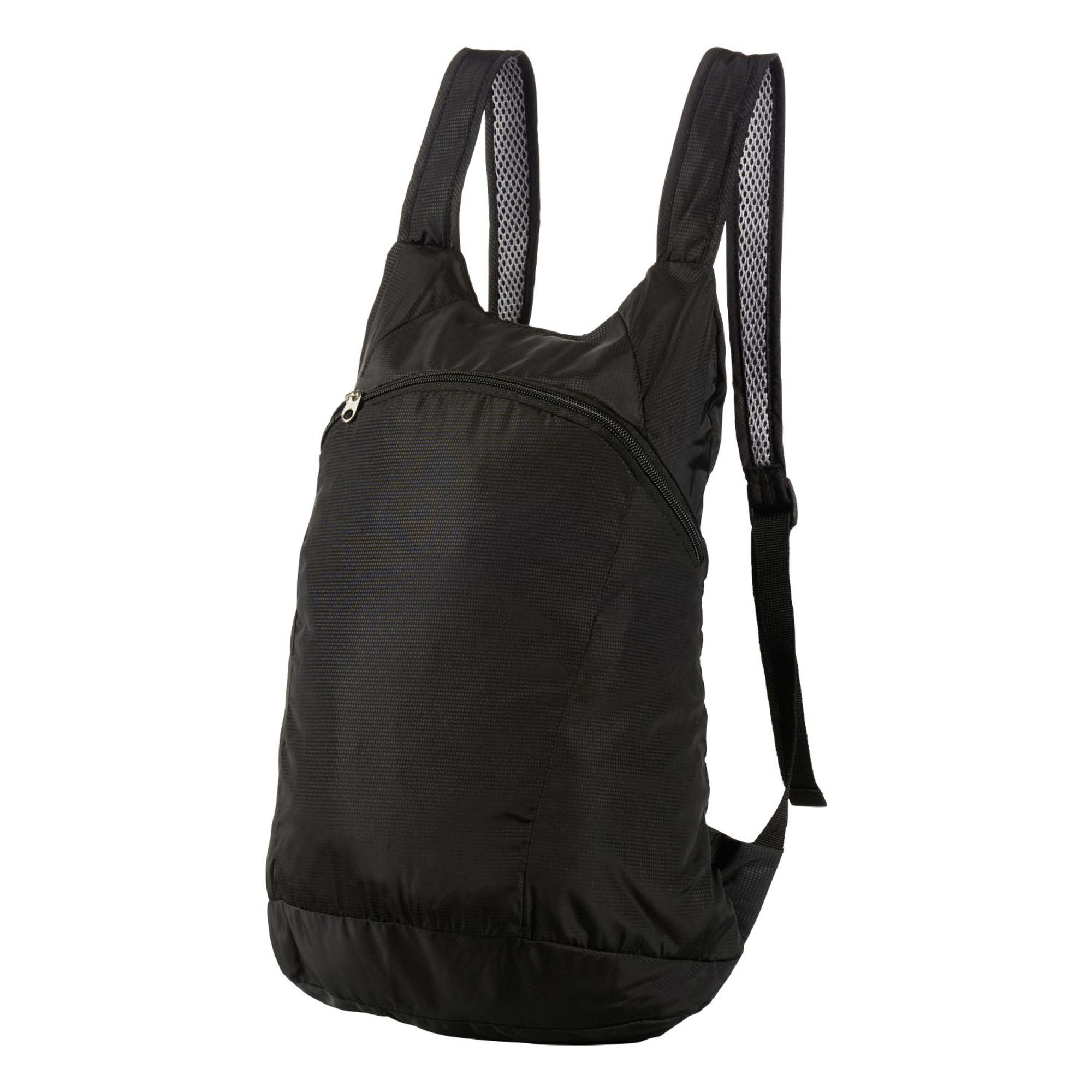 Faltbarer Rucksack, schwarz, Gr. 28 x 42 x 11 cm