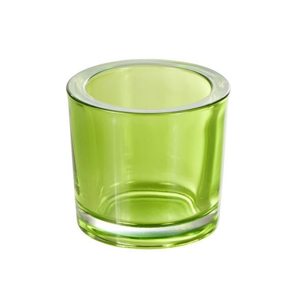 Teelichtglas in Grün
