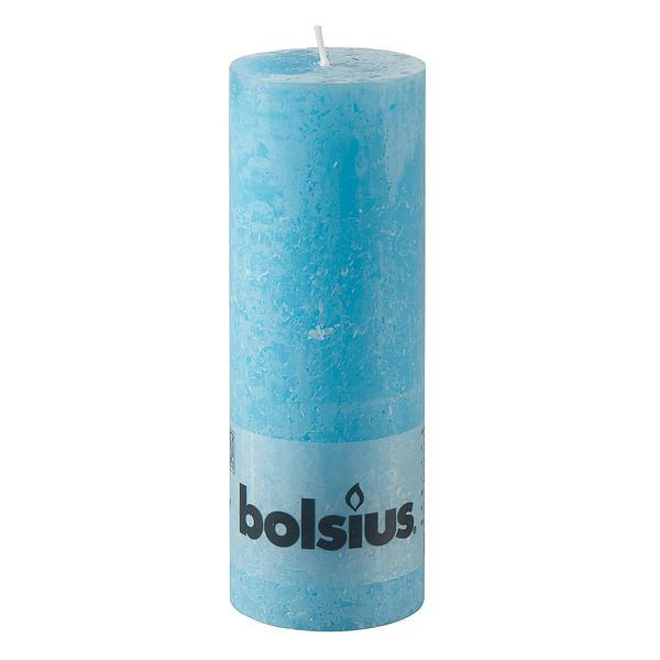 Bolsius Rustik-Stumpenkerze Aqua