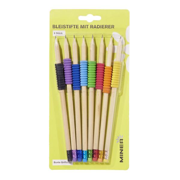 Minea Bleistifte mit farbigem Radierer