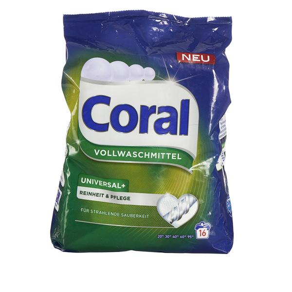 """Coral Universal-Vollwaschmittel """"Reinheit & Pflege"""""""