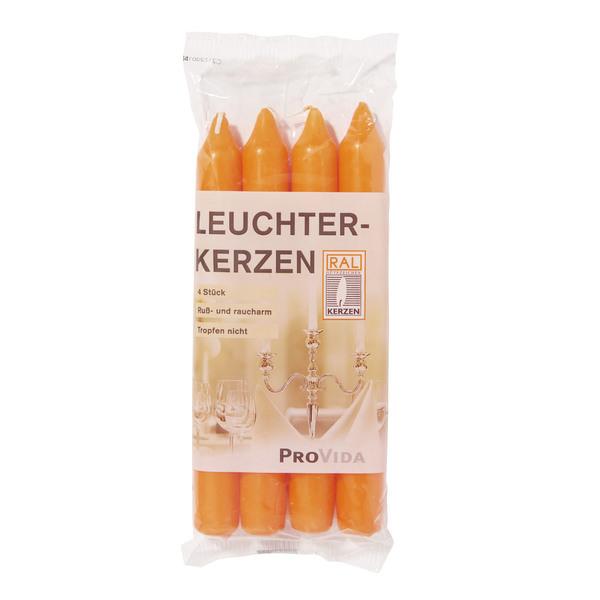 Provida Leuchterkerzen in Orange