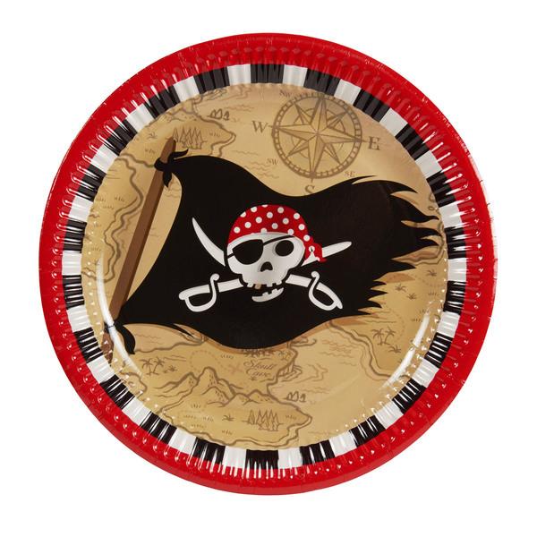 "Pappteller ""Pirates Treasure Map"""