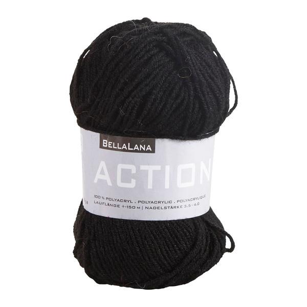 Acryl-Wollem in Schwarz
