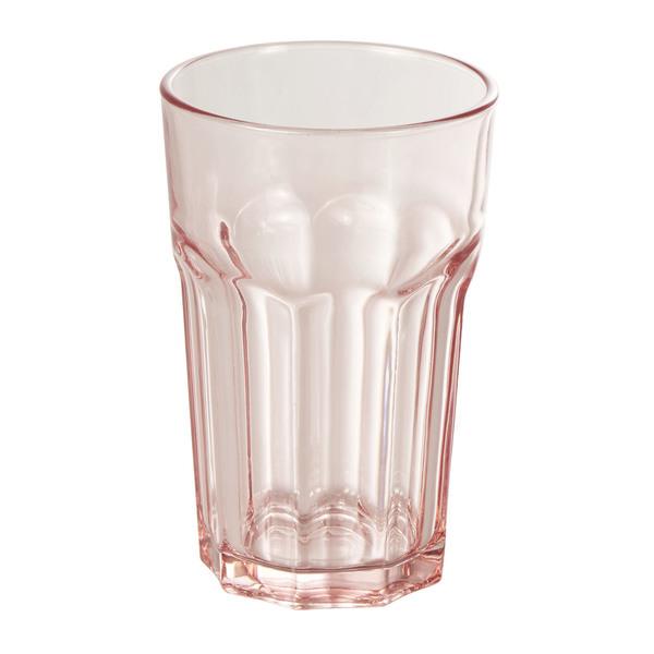Wasserglas in Pink