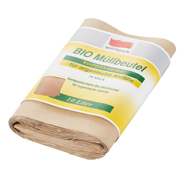 Quickpack Kompost-Beutel für Bio-Abfälle