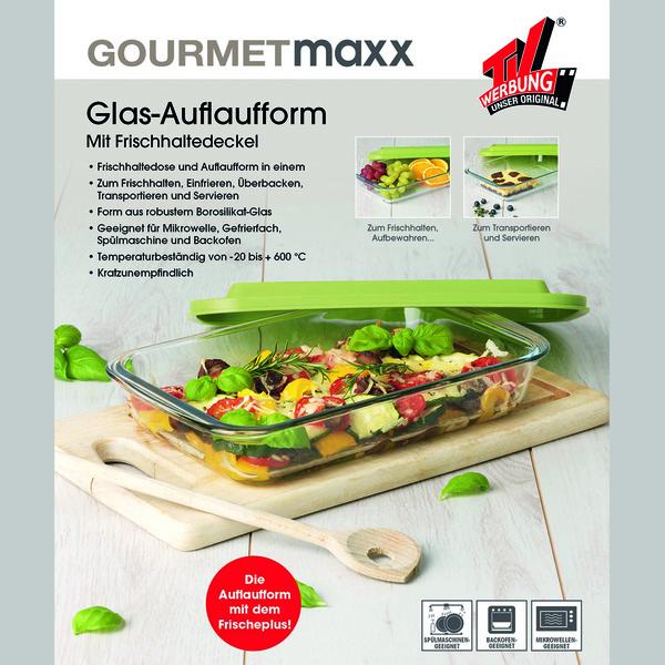 tv werbung unser original gourmetmaxx glas auflaufform mit deckel bei kodi kaufen kodi. Black Bedroom Furniture Sets. Home Design Ideas