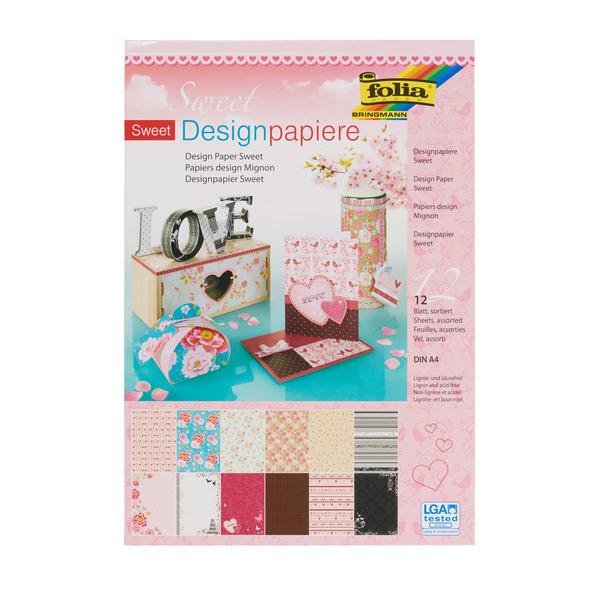 "folia Designpapierblock ""Sweet"""