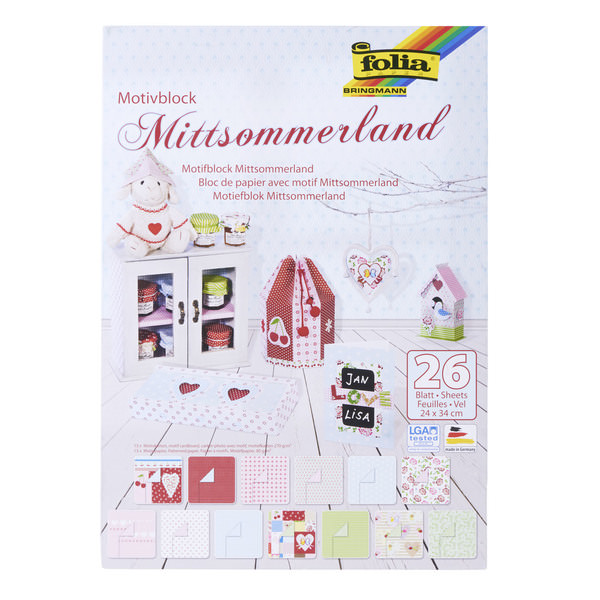 "folia Motivblock ""Mittsommerland"""