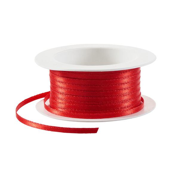 Satin-Geschenkband in Rot