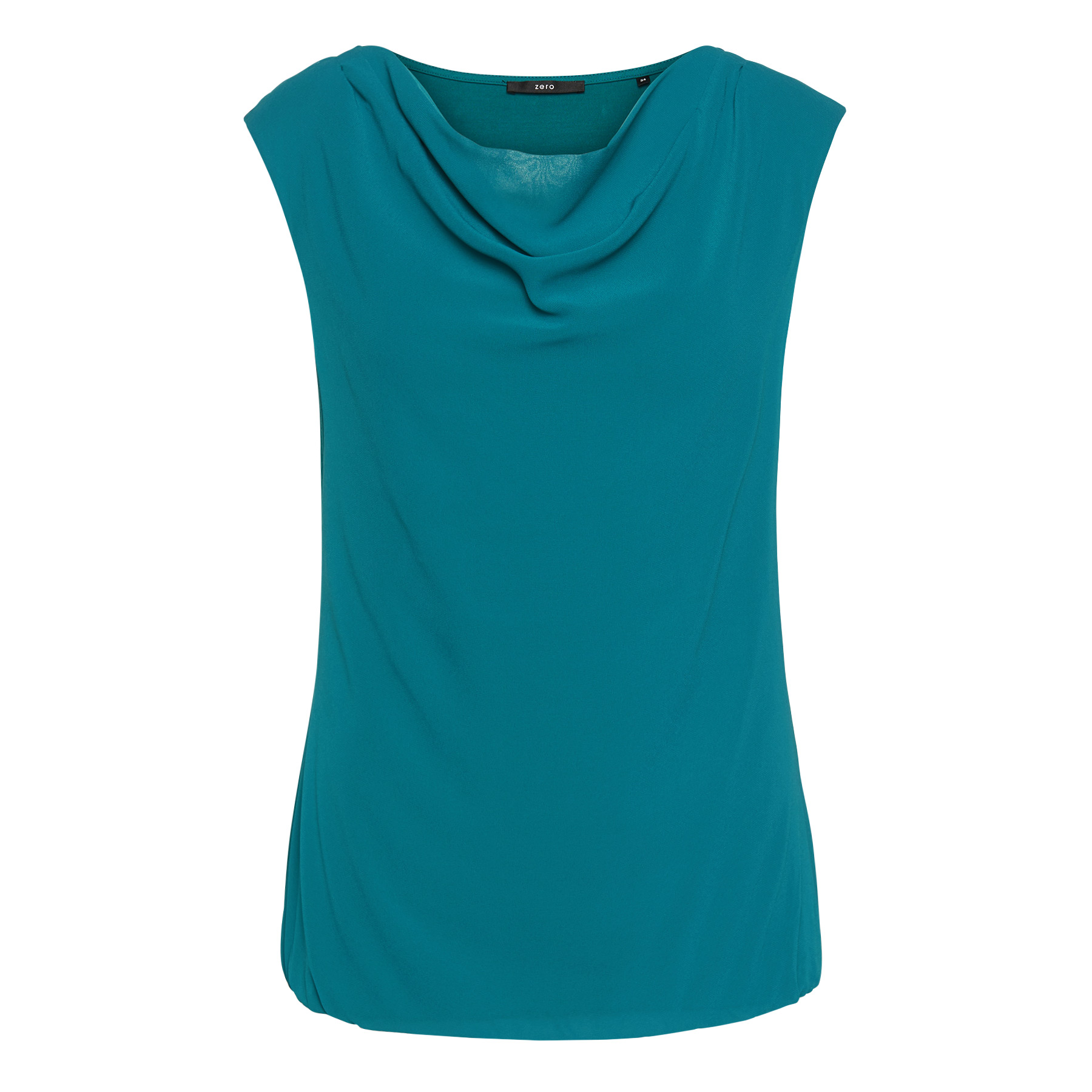 Blusenshirt mit Chiffon-Front teal green