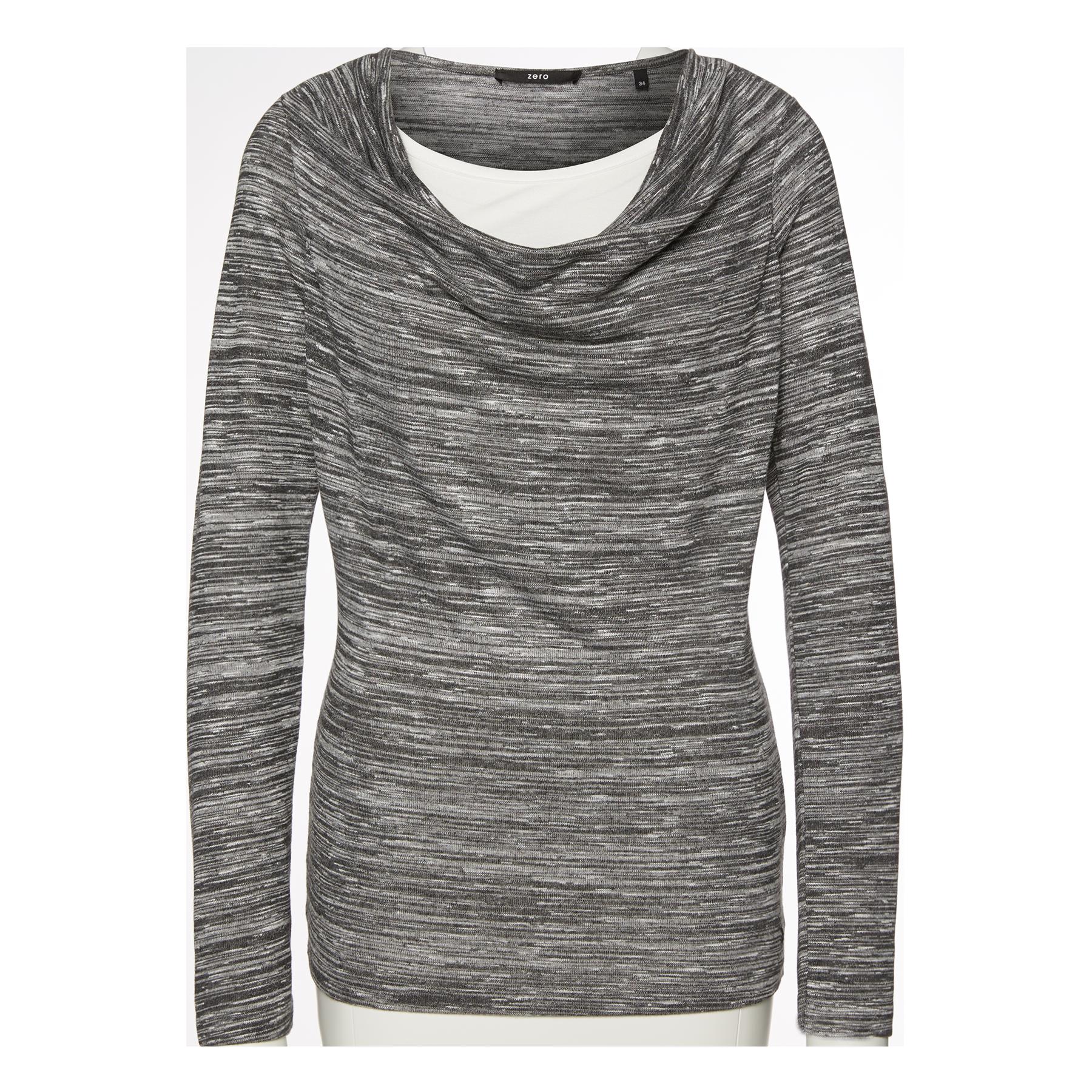 Pullover mit Wasserfall-Kragen black