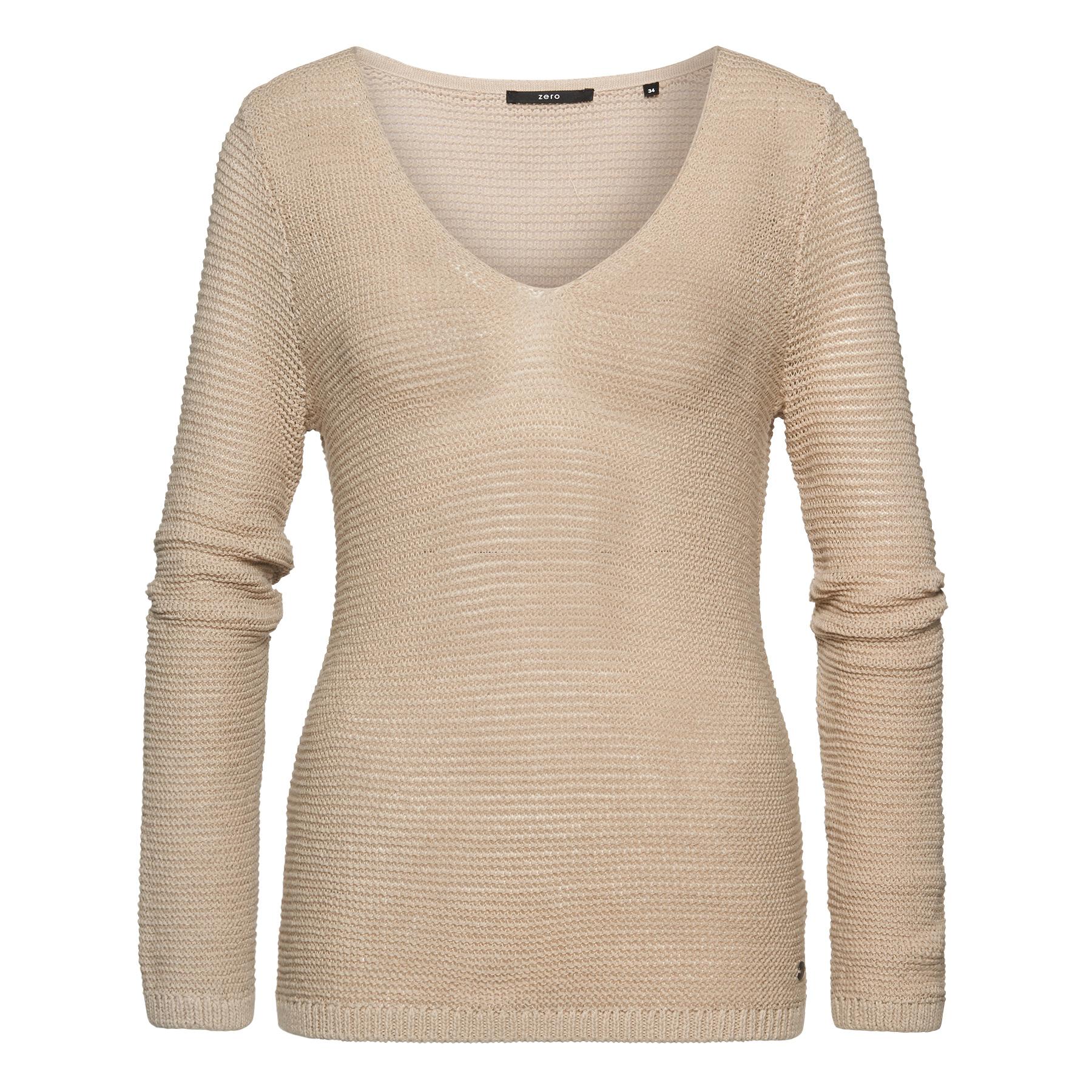 Pullover mit V-Ausschnitt sand