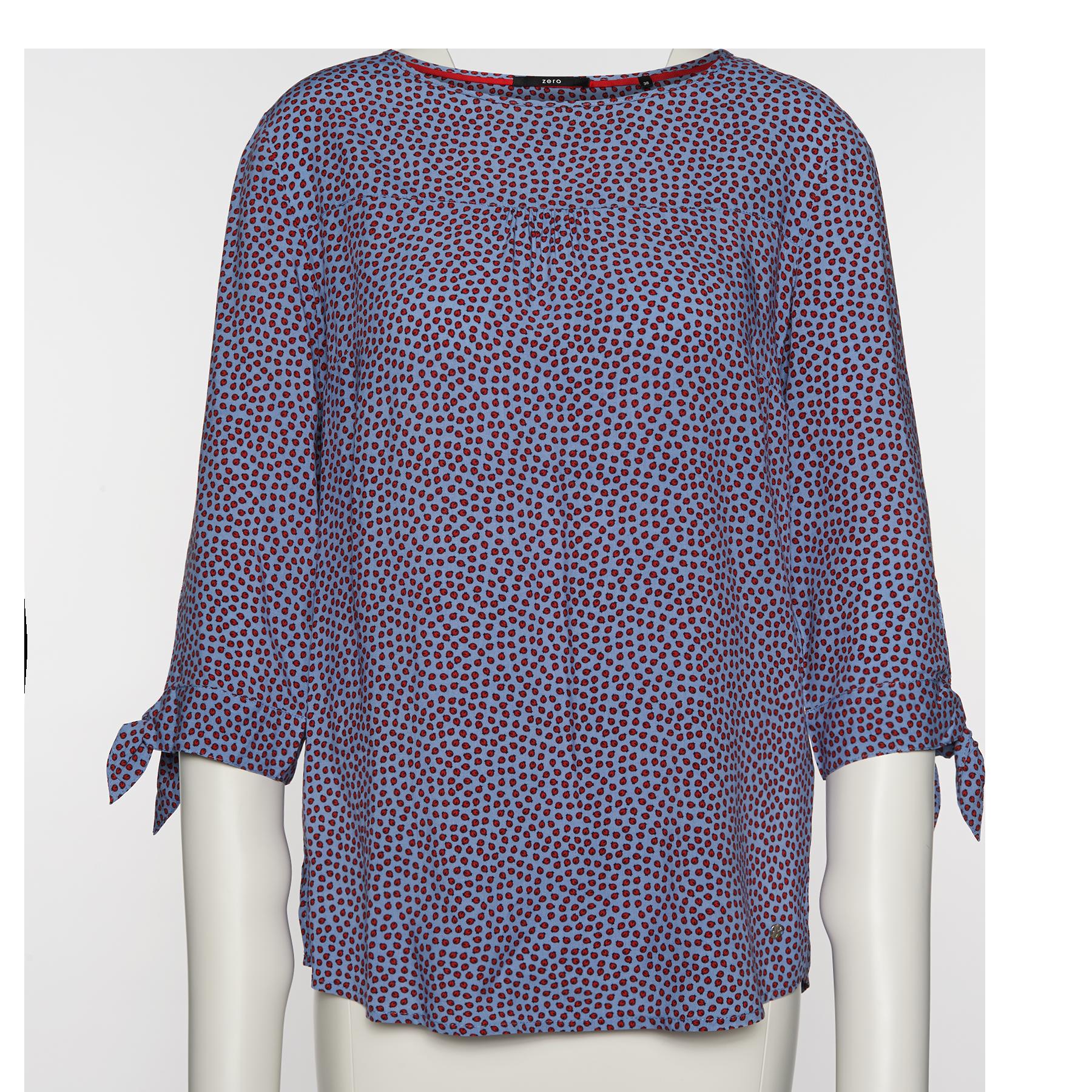 Bluse mit Marienkäfer-Print lily blue