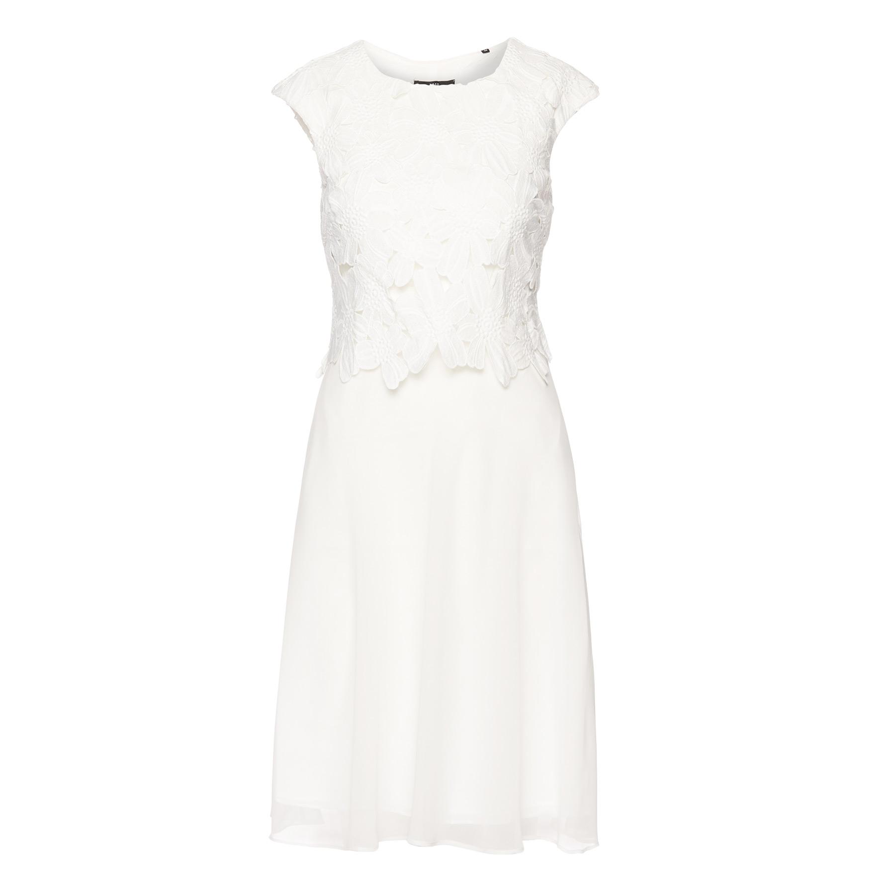 Kleid in Rock-Top-Optik offwhite