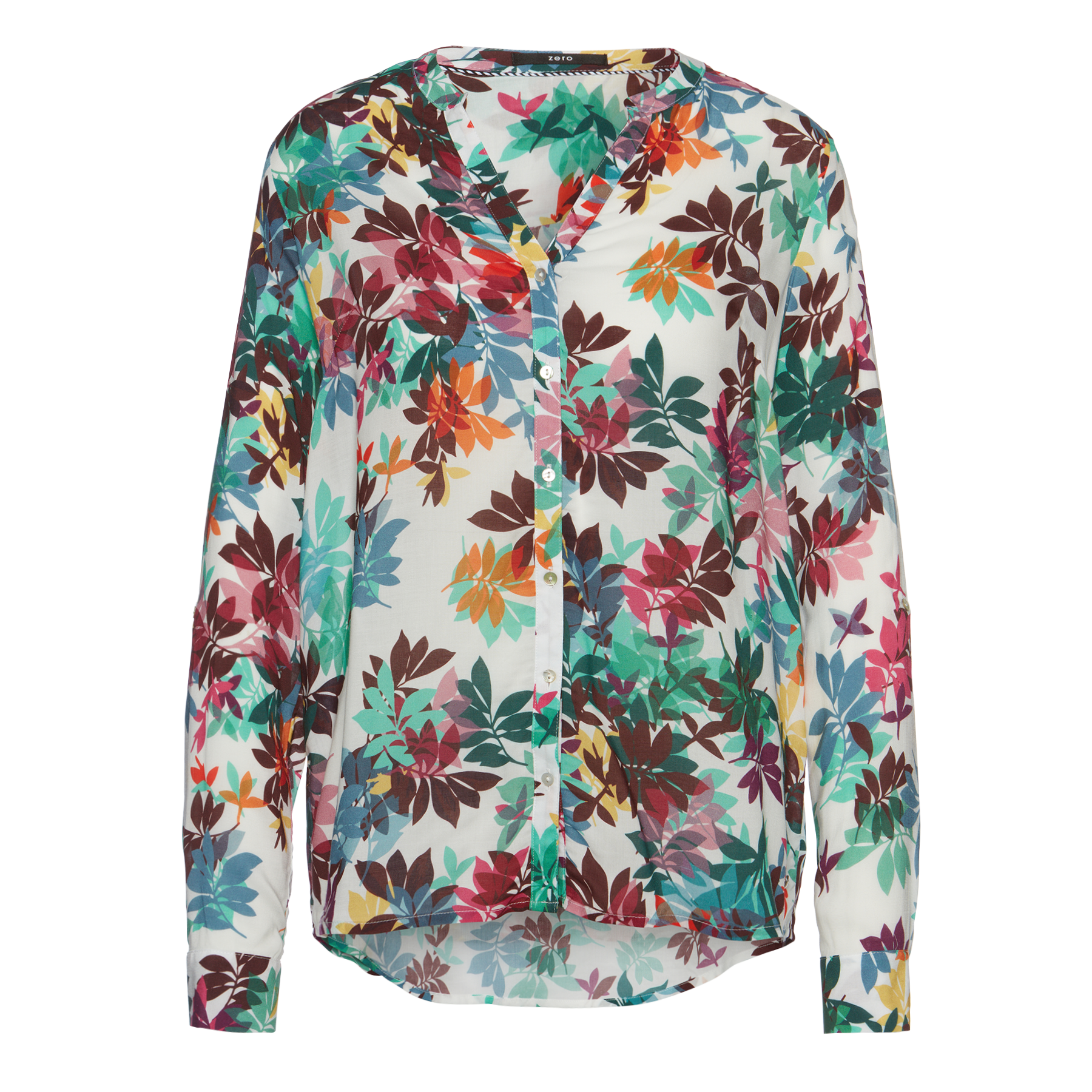 Bluse mit Allover-Print offwhite