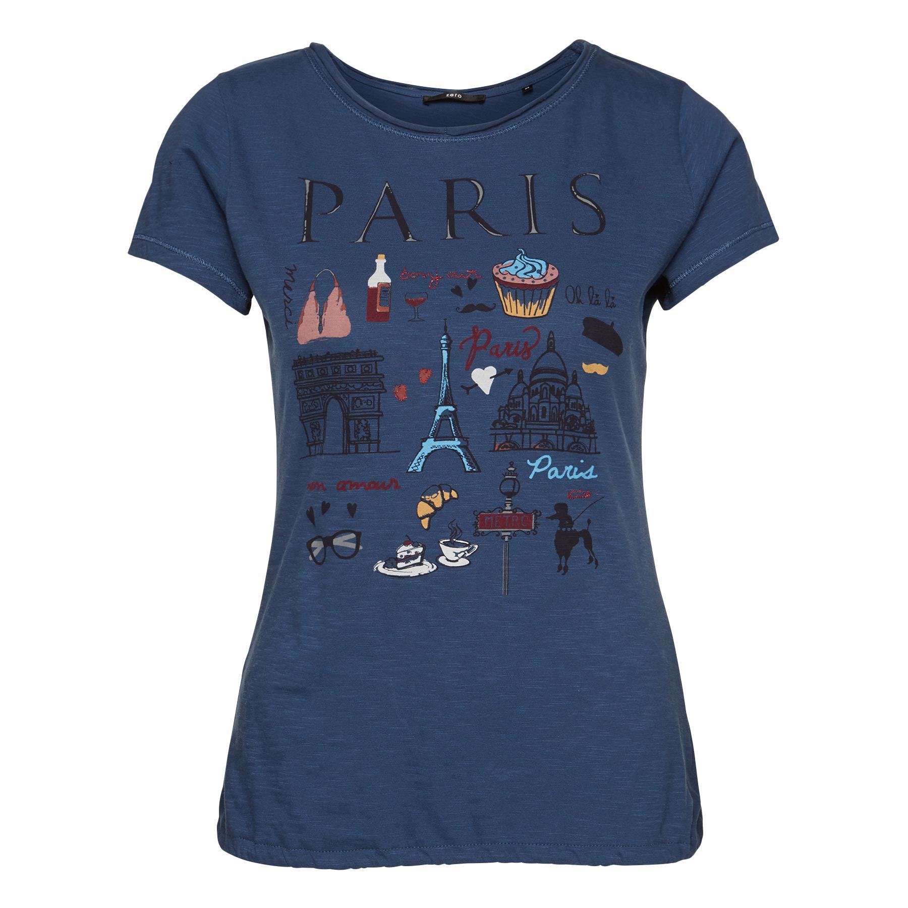T-Shirt mit Print blue shadow