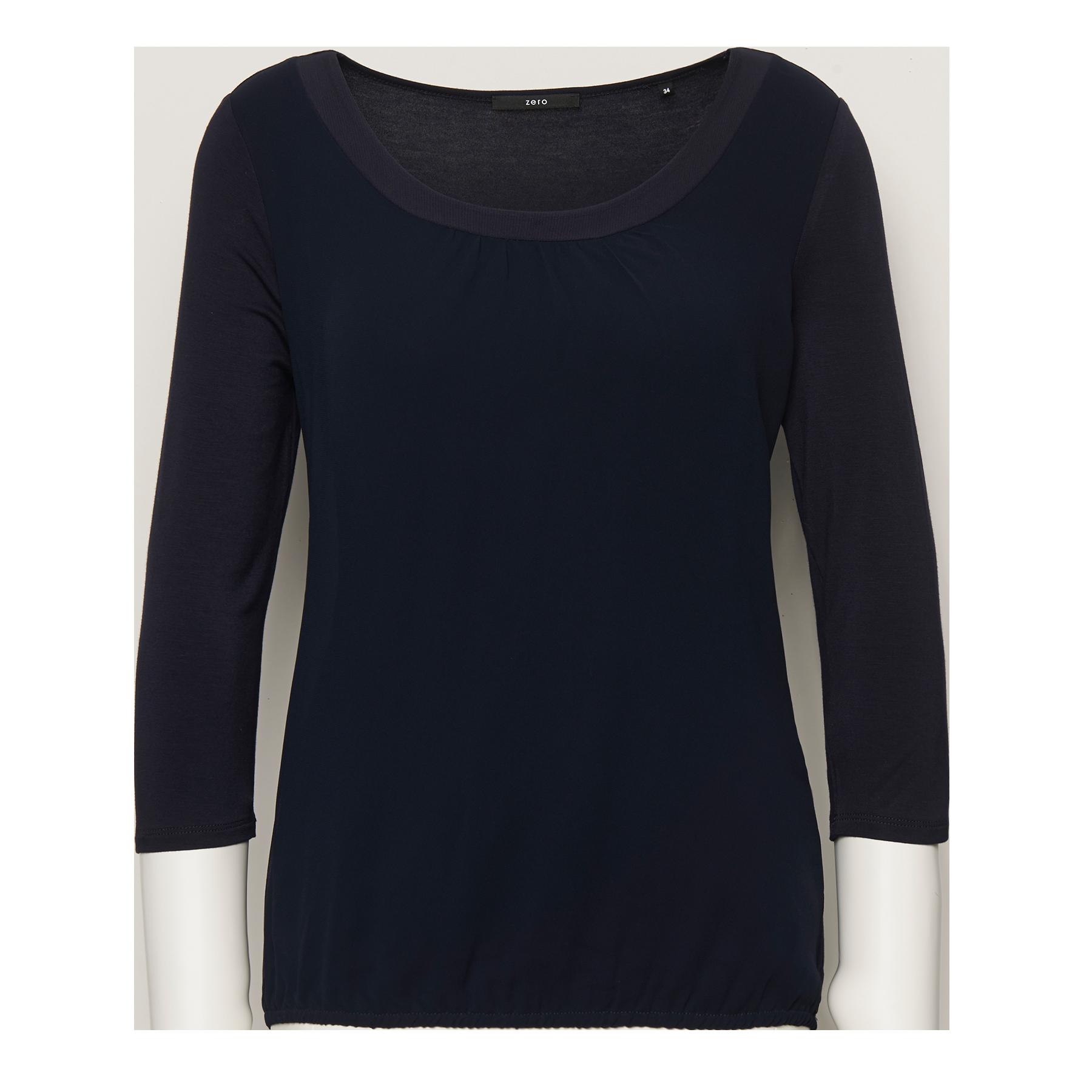 Shirt mit zartem Chiffon blue black