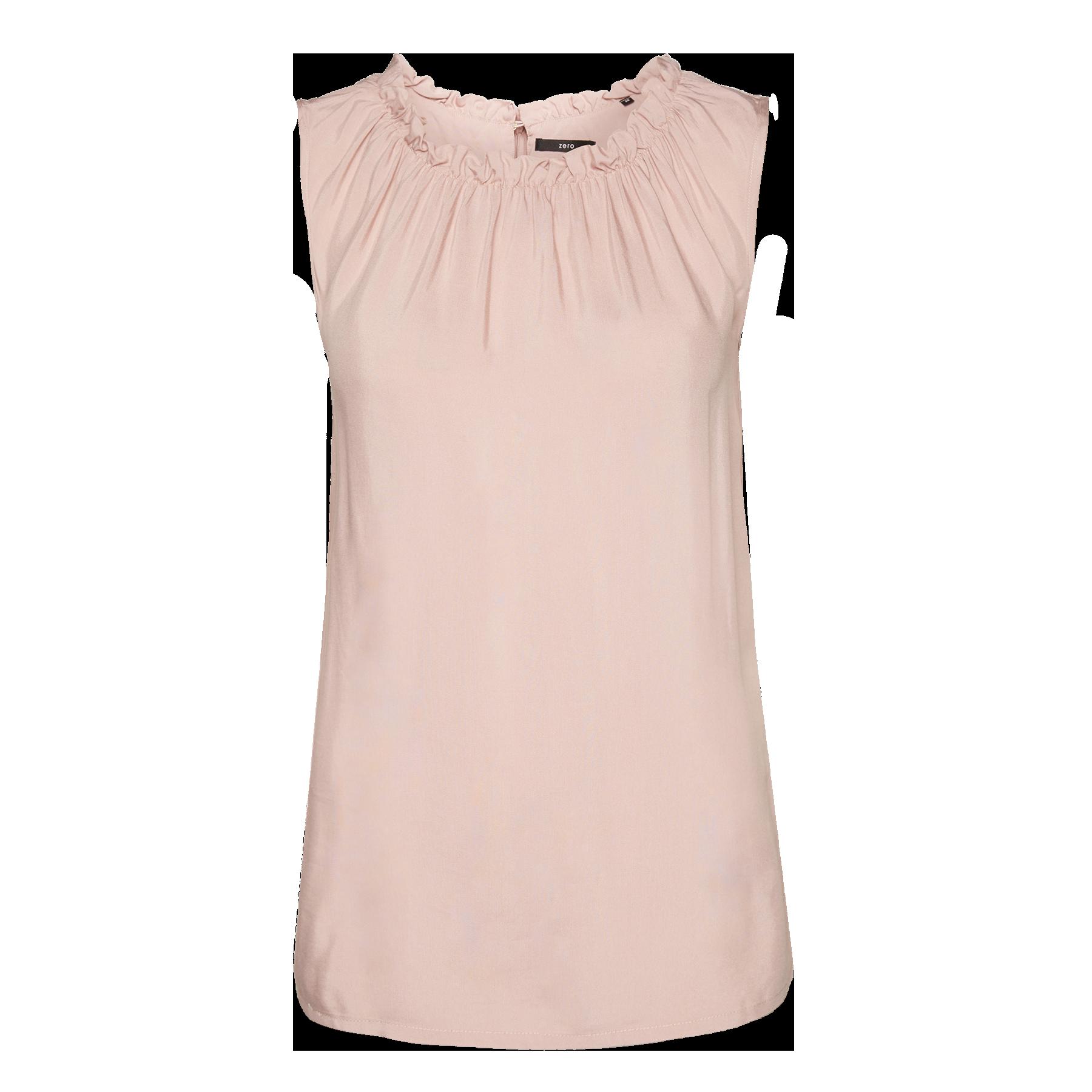 Bluse mit gerüschtem Kragen light woodrose