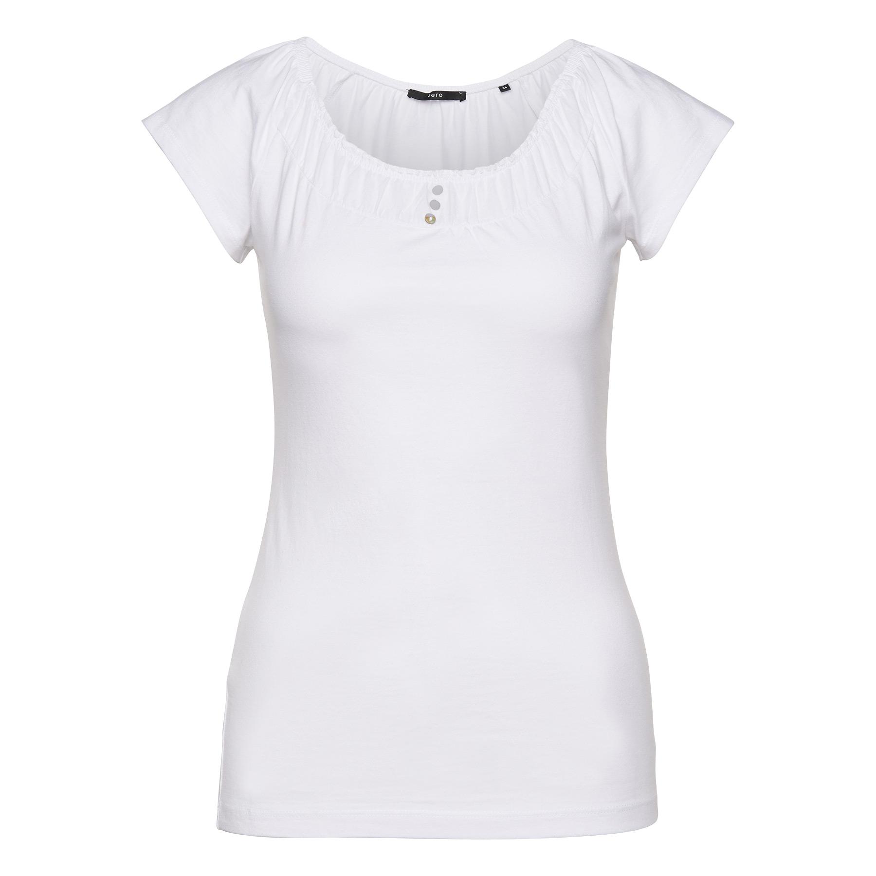 Shirt mit Volants-Ausschnitt white