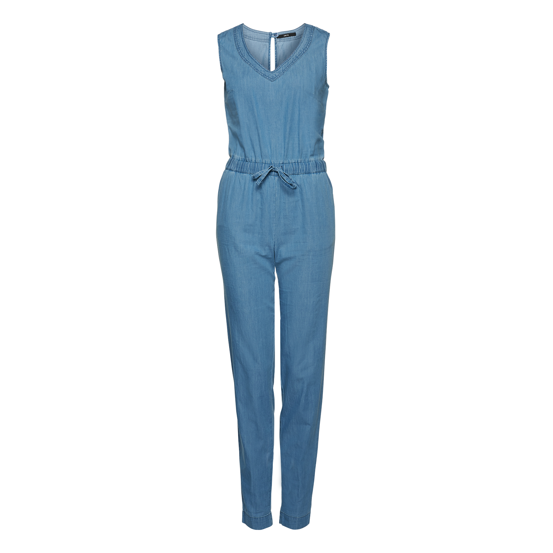 Jumpsuit in Denim-Optik light blue light denim