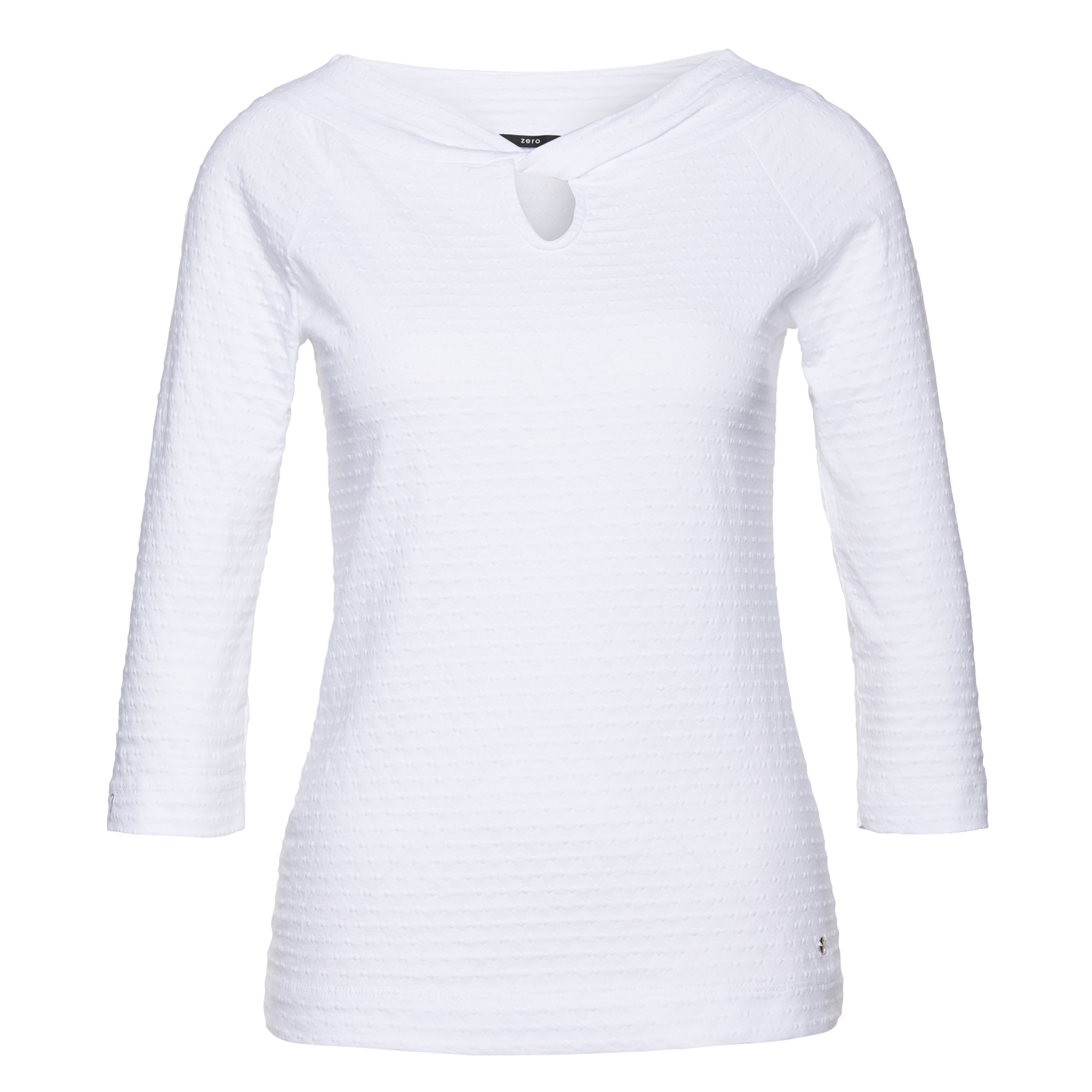 Shirt mit feiner Struktur white