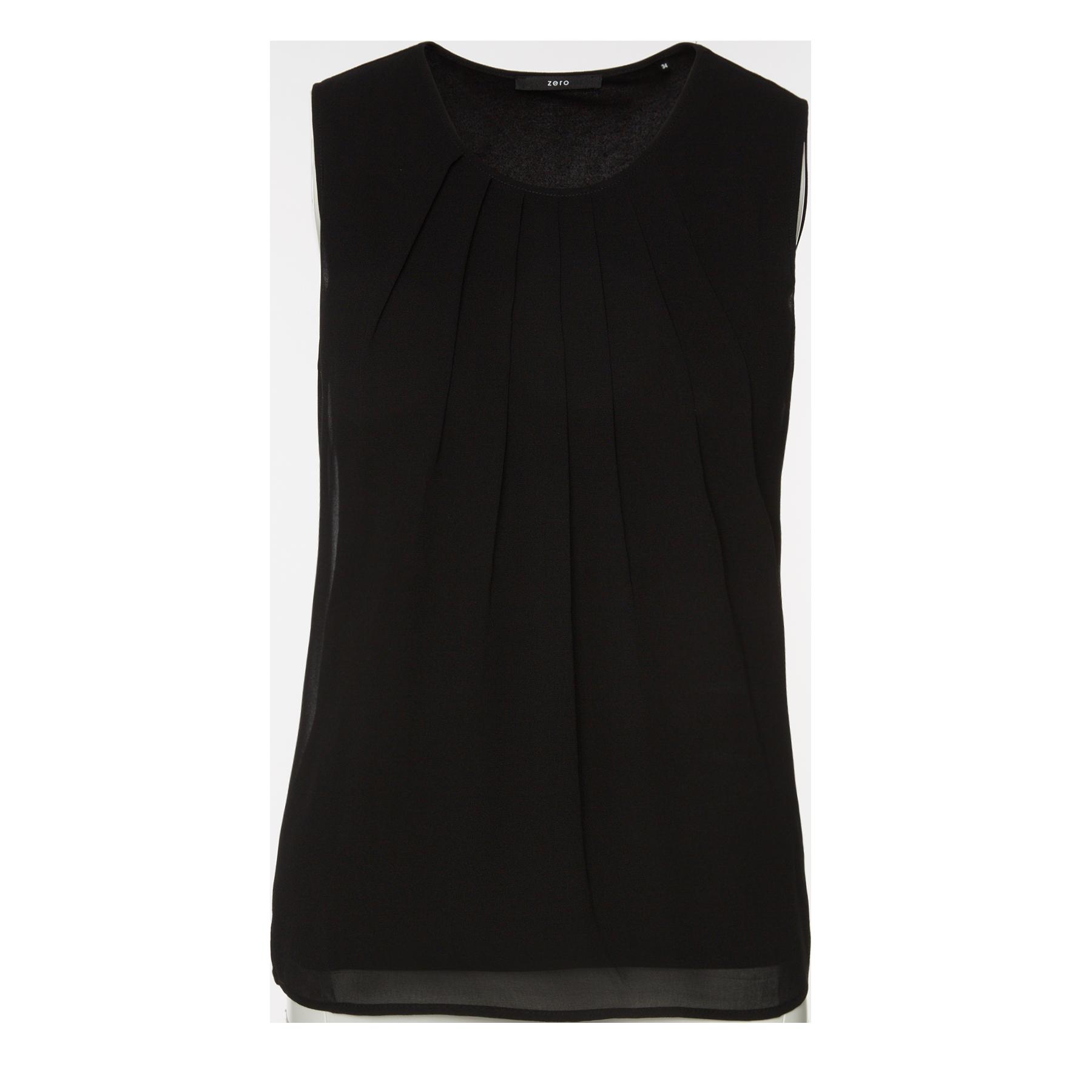 Top aus eleganter Crêpe-Qualität black