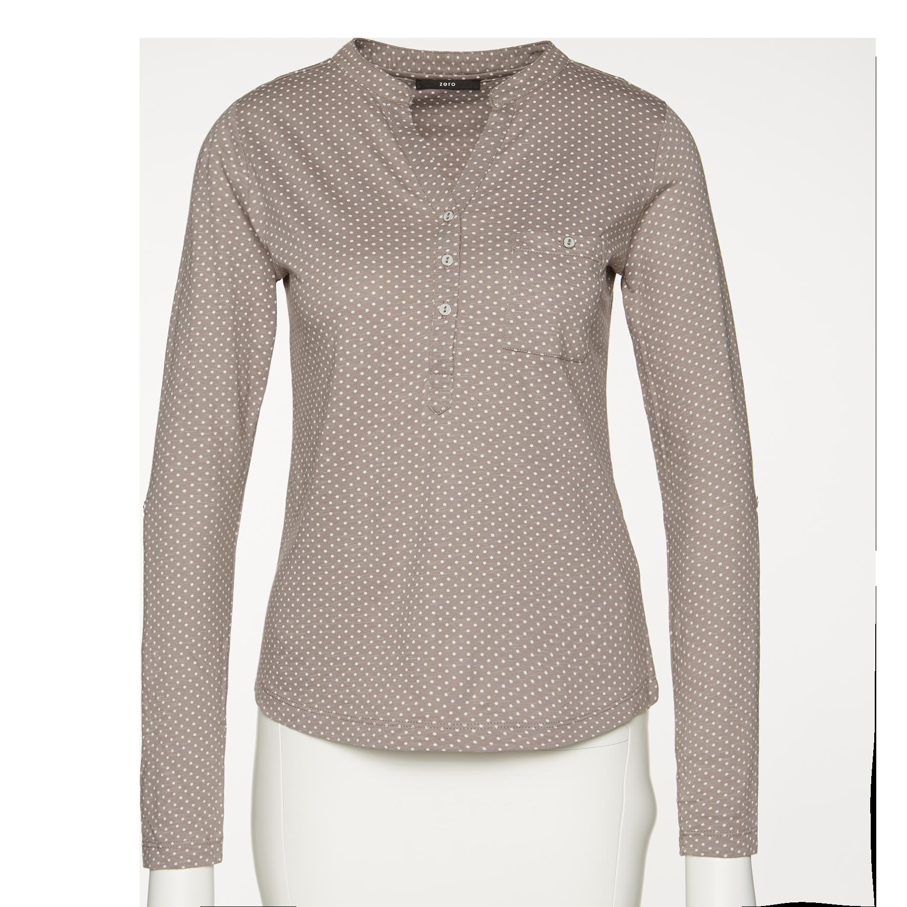 T-Shirt mit Polka Dots silver grey