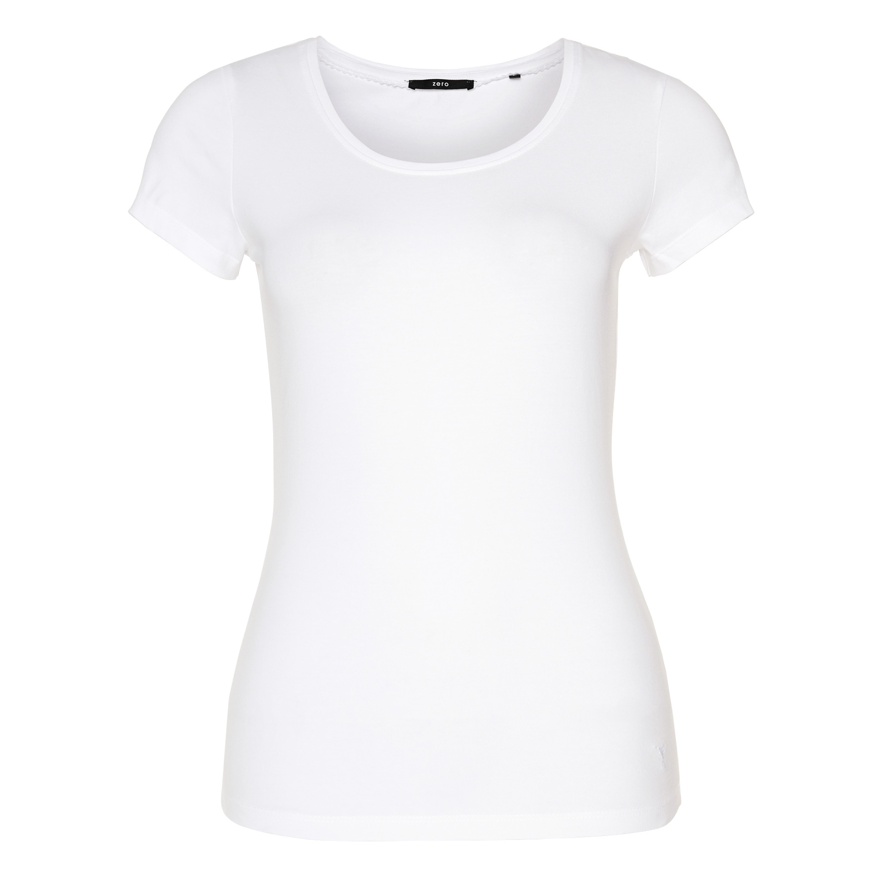 T-Shirt mit Rundhalsausschnitt white