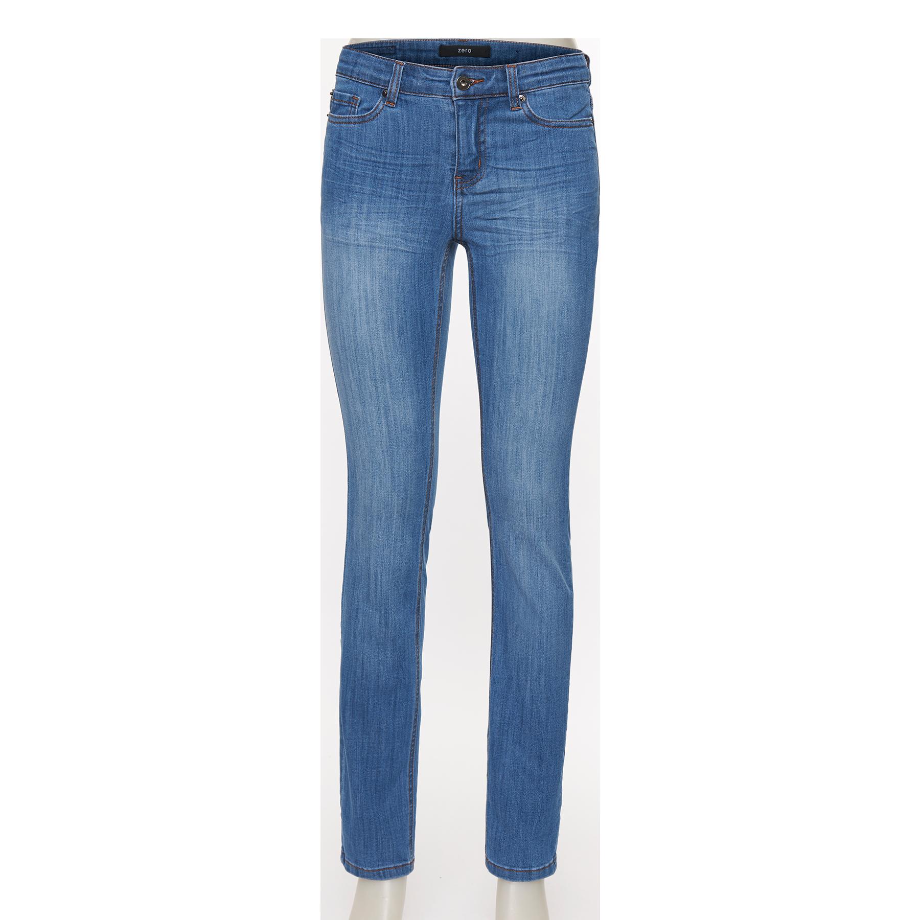 Slim Fit-Jeans Orlando, 32 inch denim mid blue washed