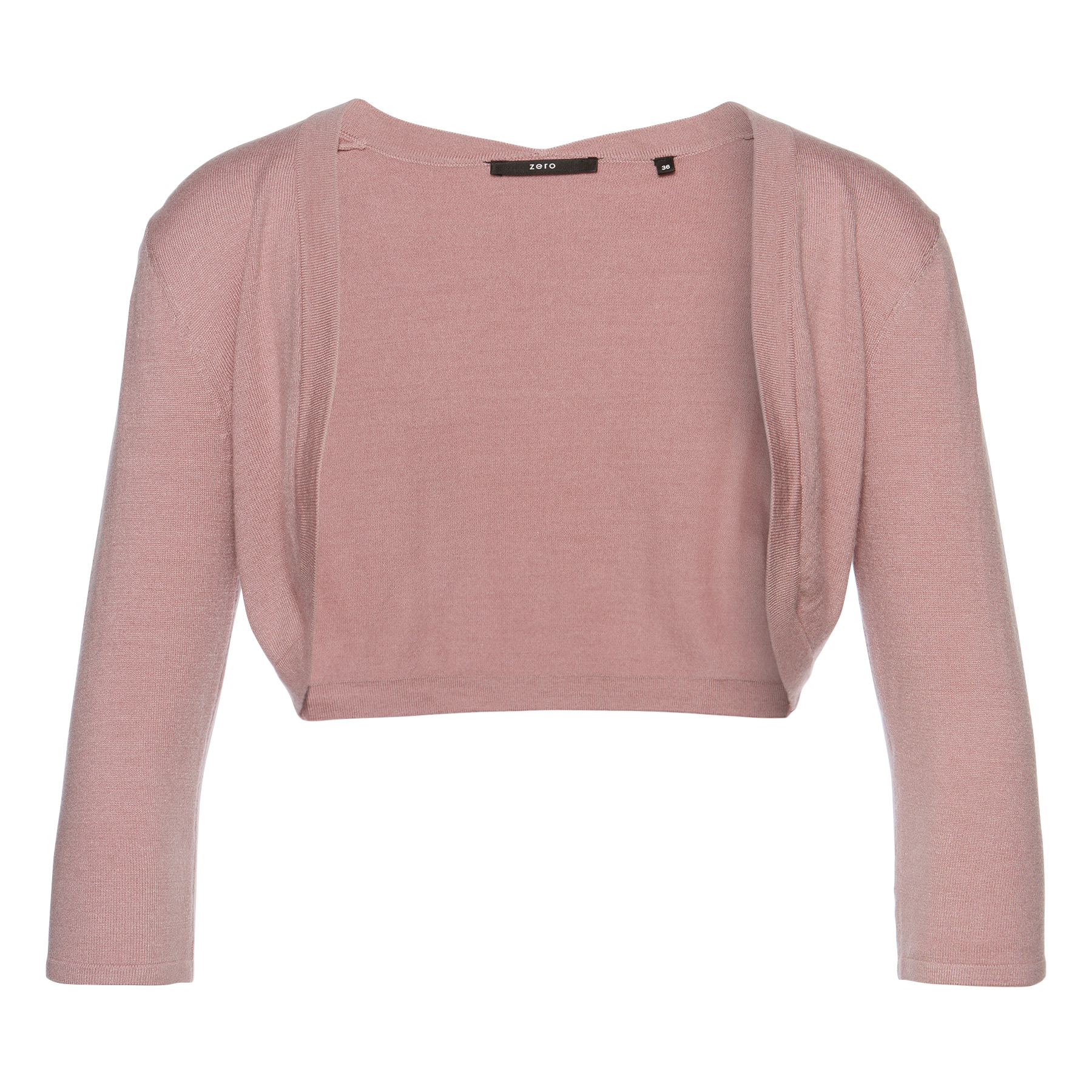 Bolero mit offener Front dusted rose