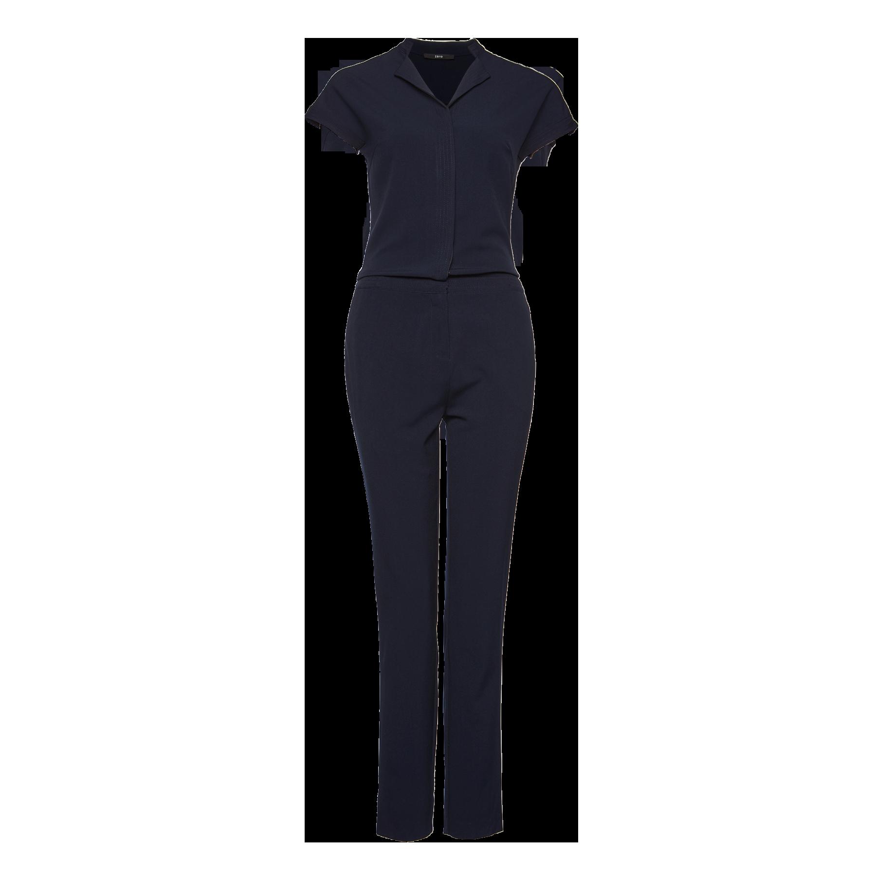 Overall in moderner Crêpe-Qualität blue black