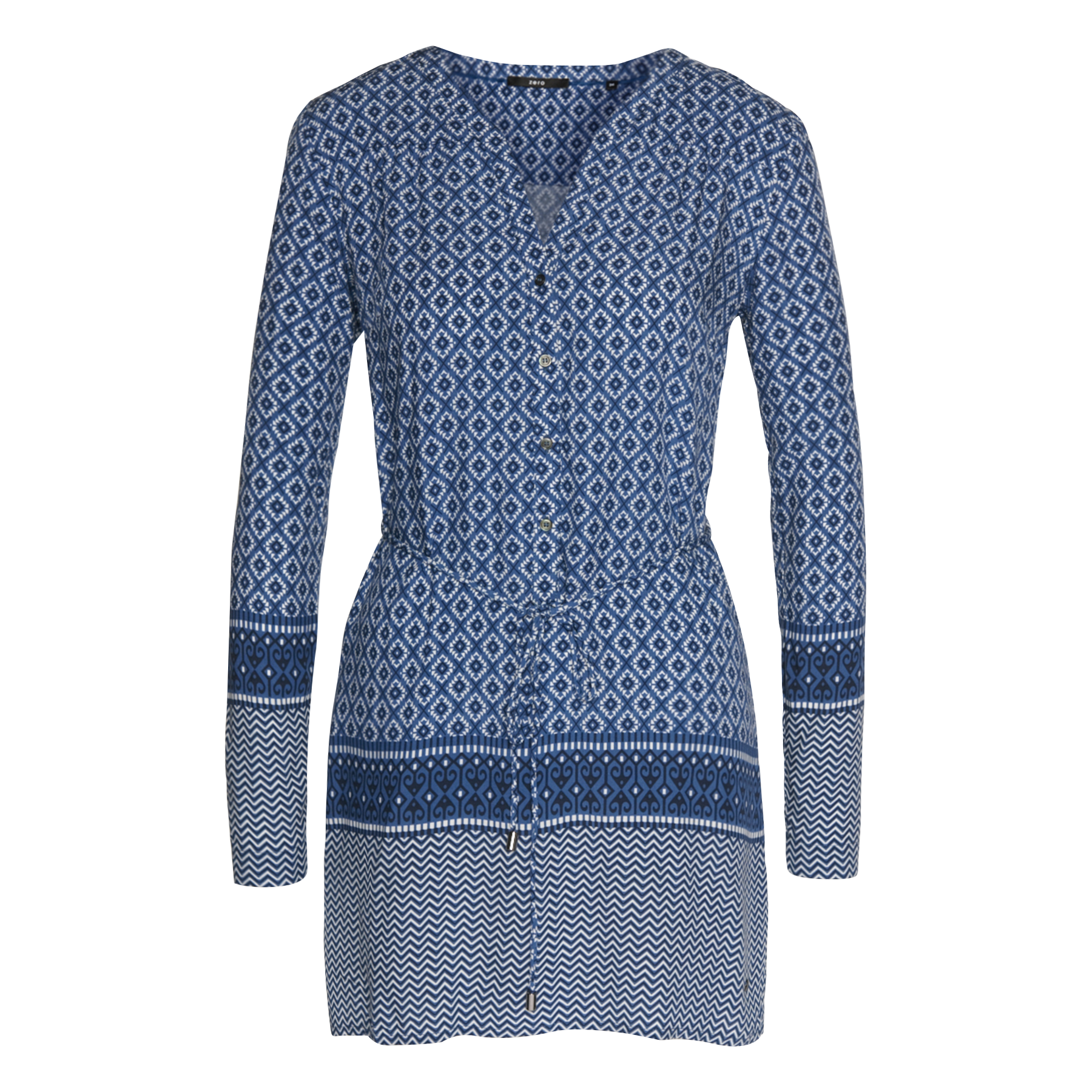 Bluse mit Allover-Muster blue shadow
