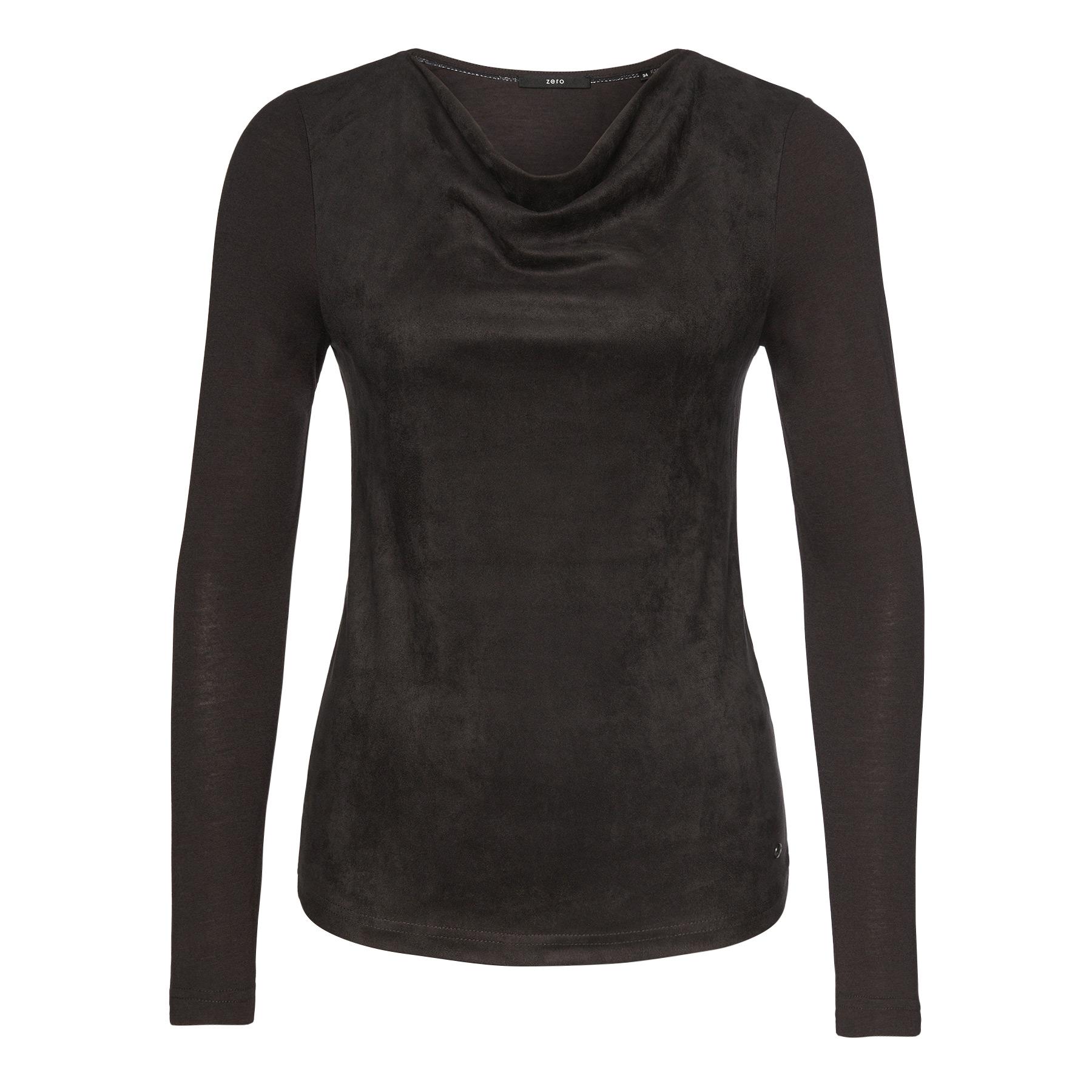 Jersey Sweater mit Wasserfall-Kragen anthracite-m