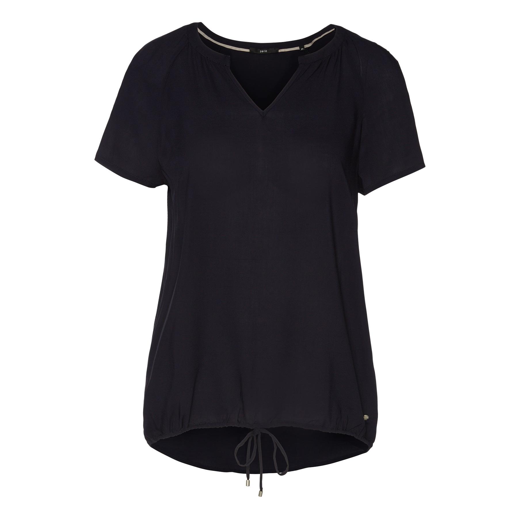 Viskose-Bluse in legerer Schnittform blue black