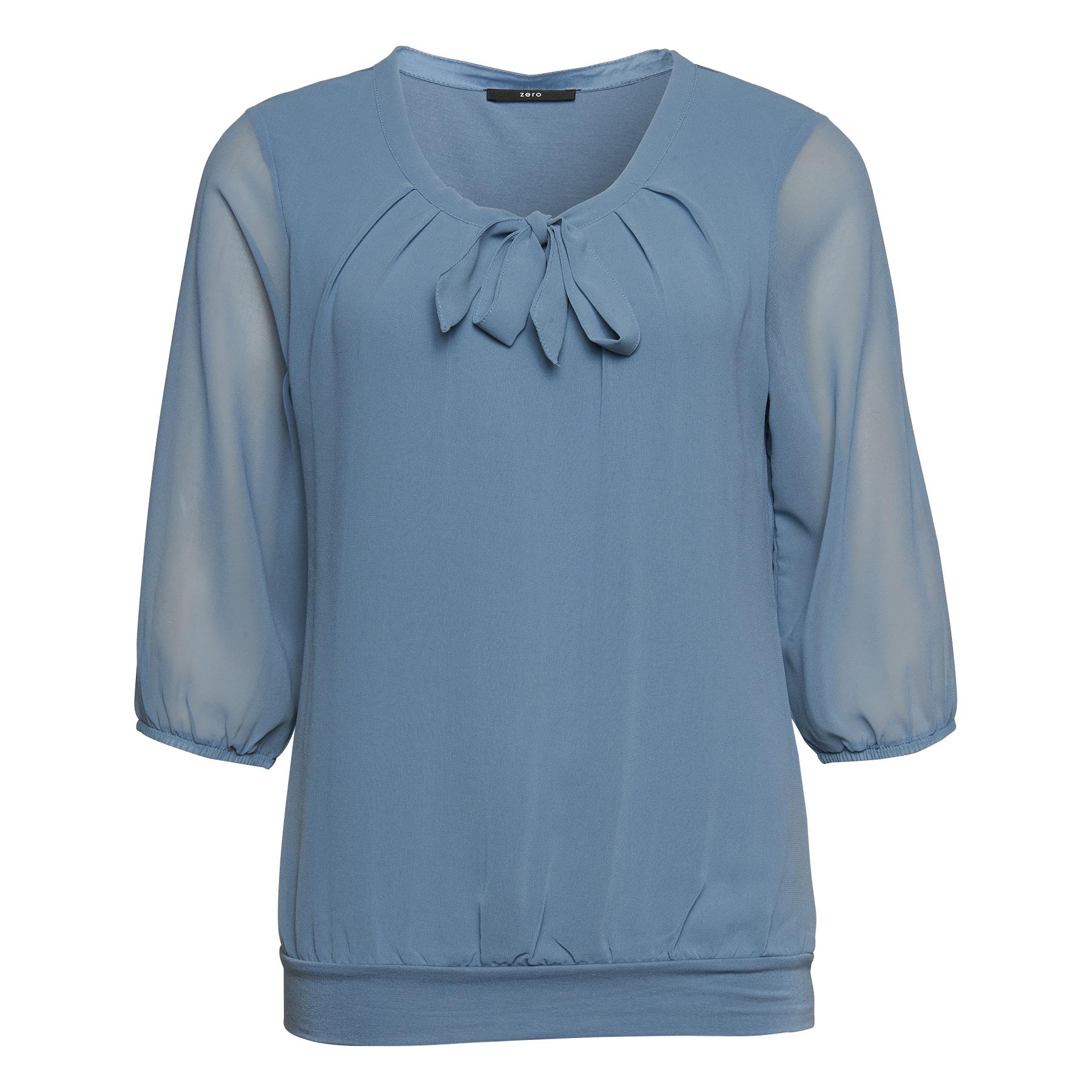 Bluse Celeste mit Schluppenkragen dusk blue