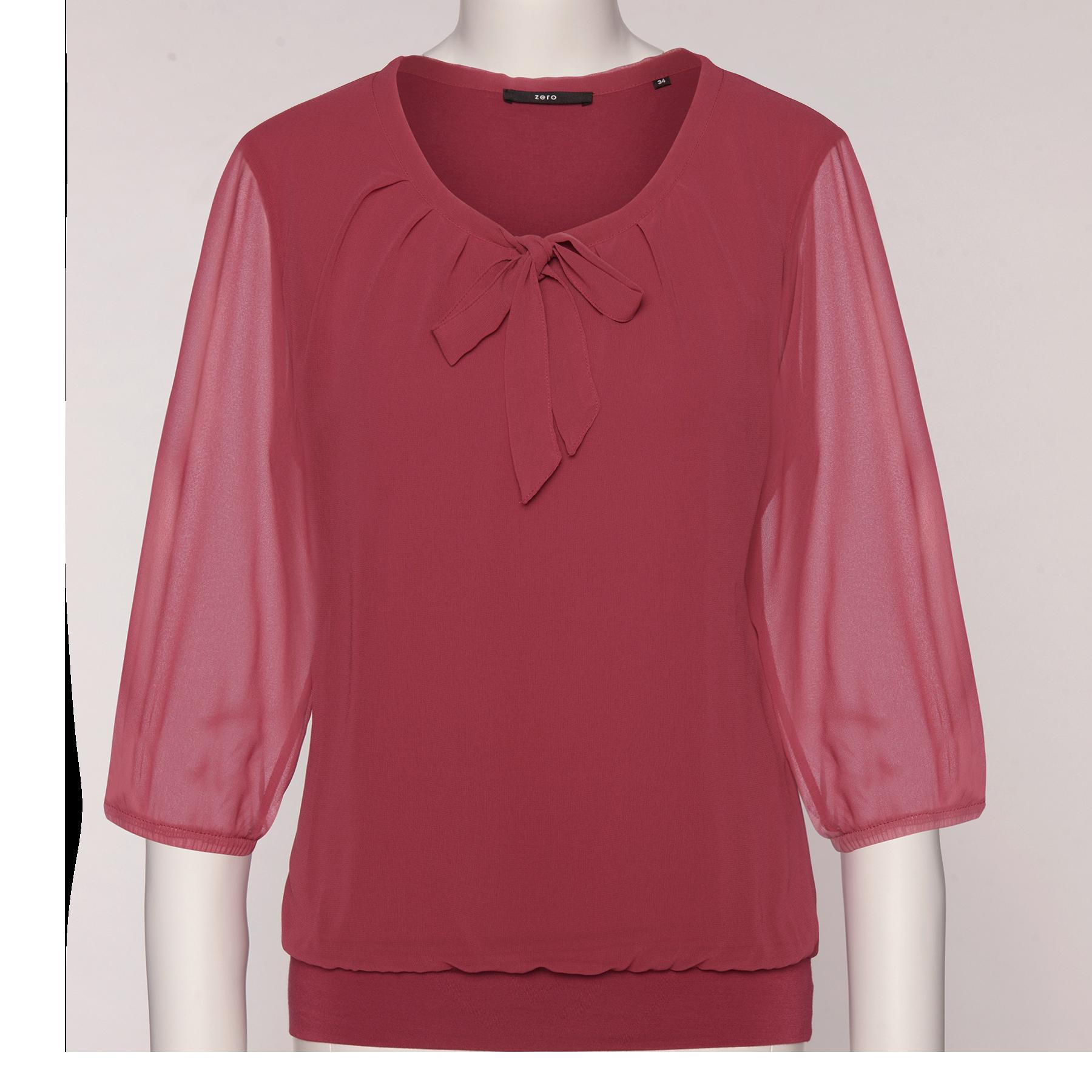 Bluse Celeste mit Schluppenkragen pink rouge