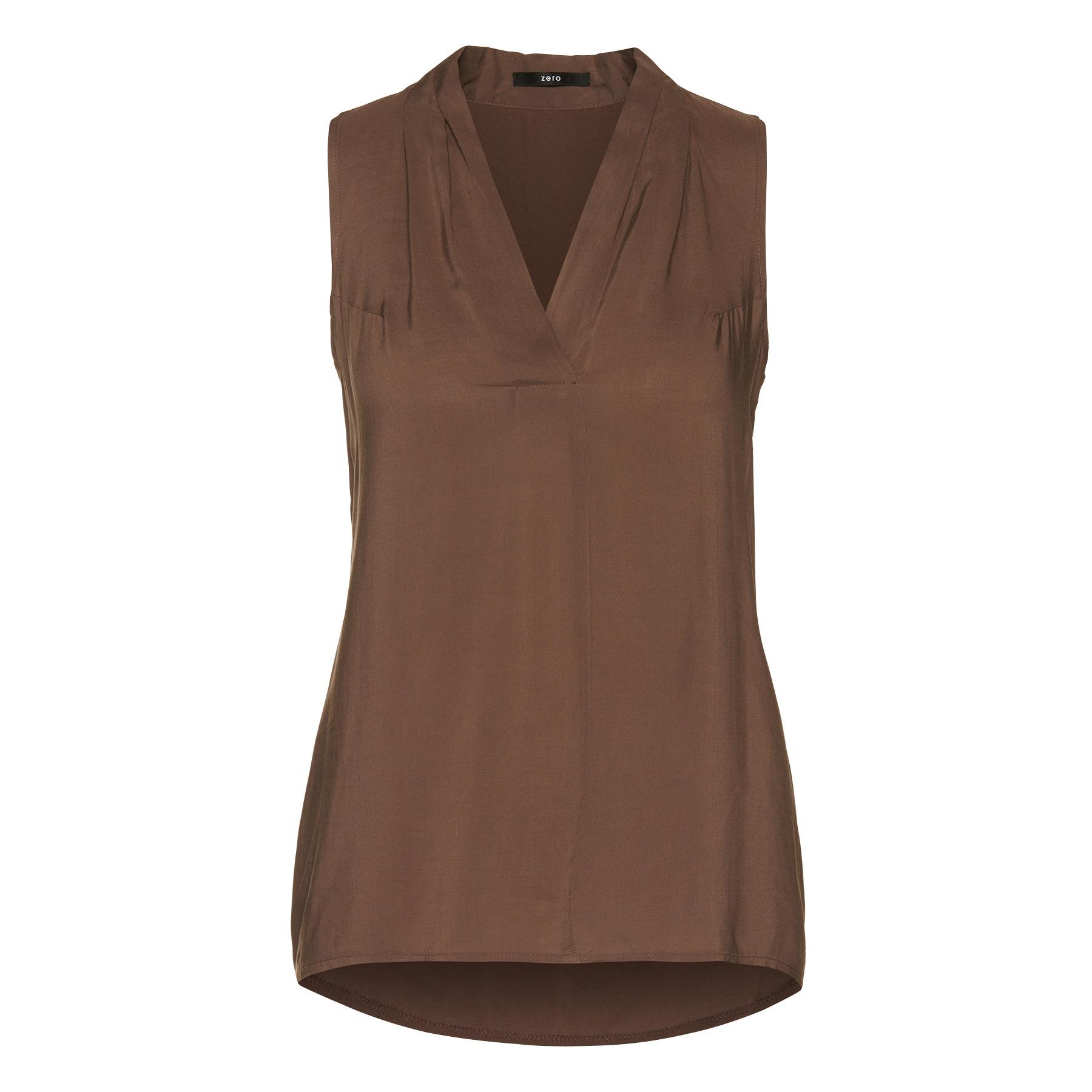 Bluse in längerer Schnittform nut brown