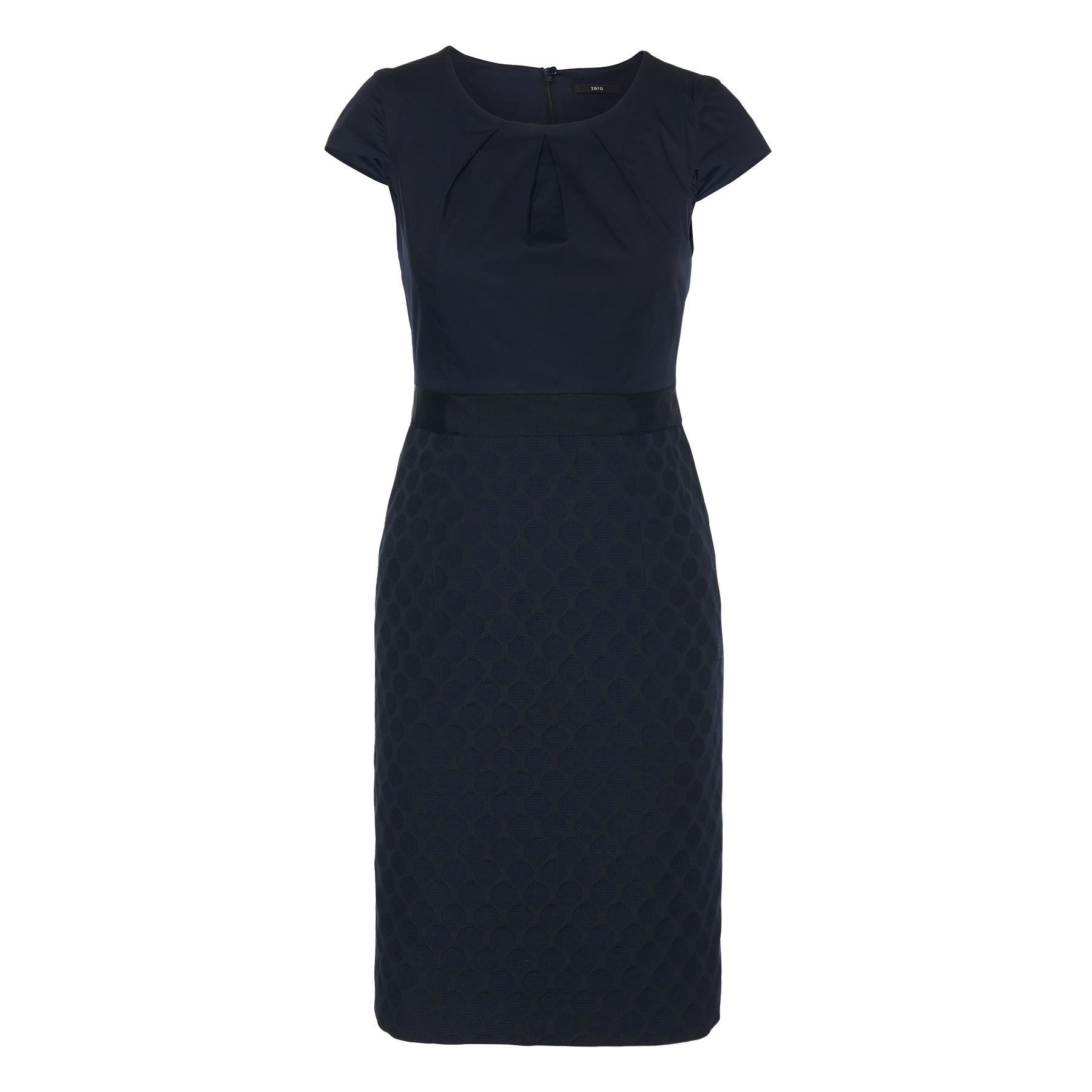 Kleid in Rock-Top-Optik blue black