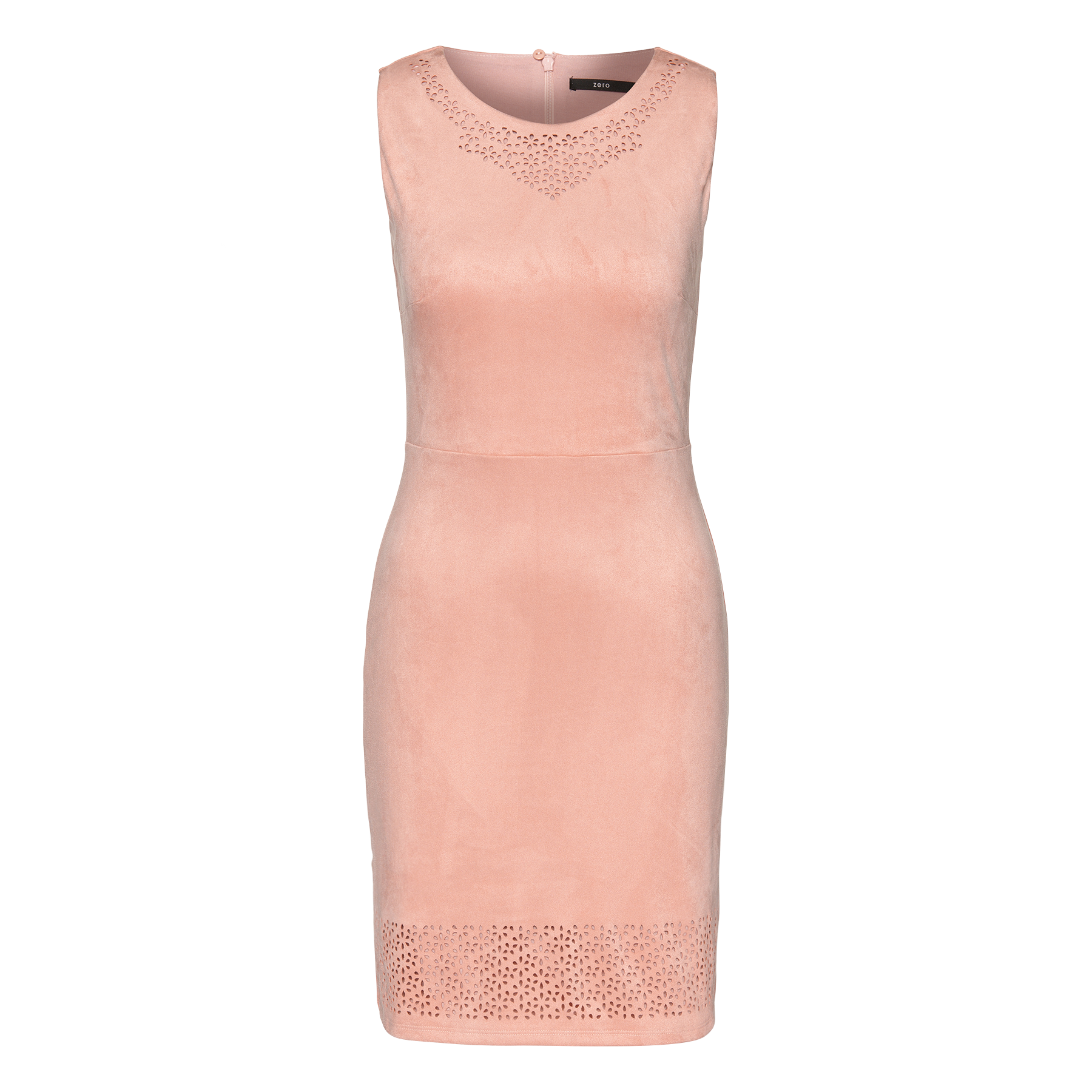 Kleid in Veloursleder-Optik rose parfait