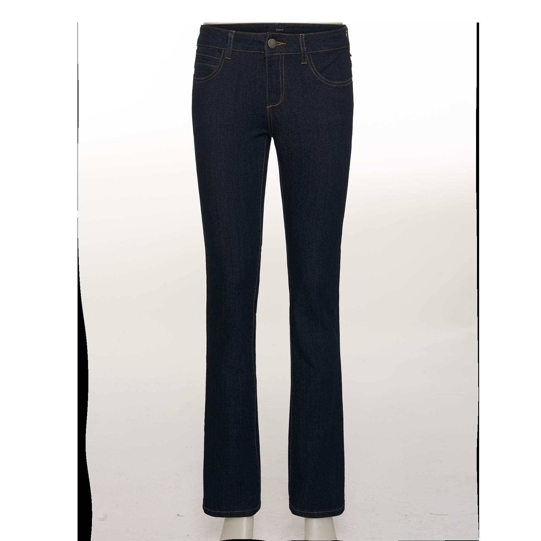 Slim-Fit Jeans mit Steppnähten 32 Inch rinsed washed