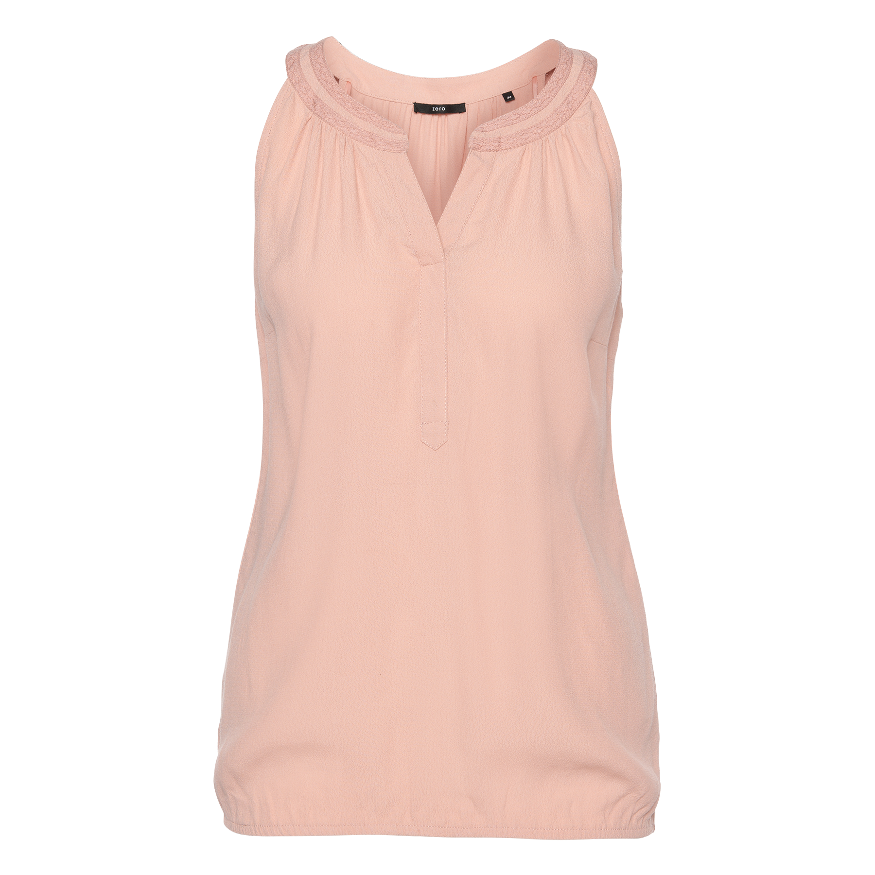 Bluse aus Crêpe-Viskose rose parfait
