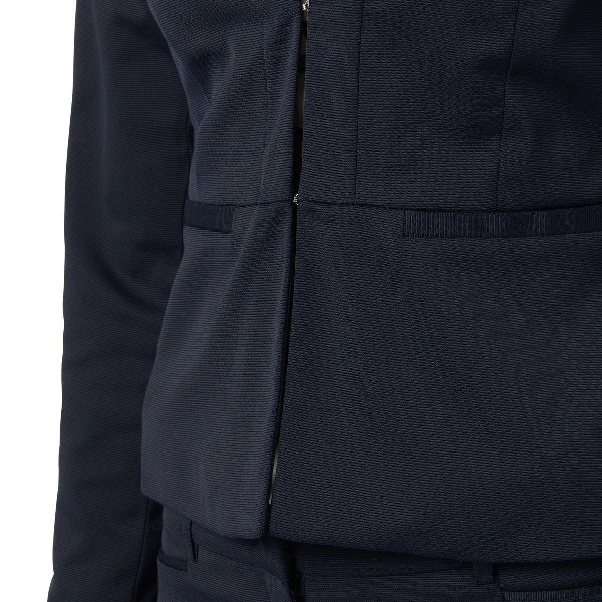 Blazer in Struktur-Stoff in blue black