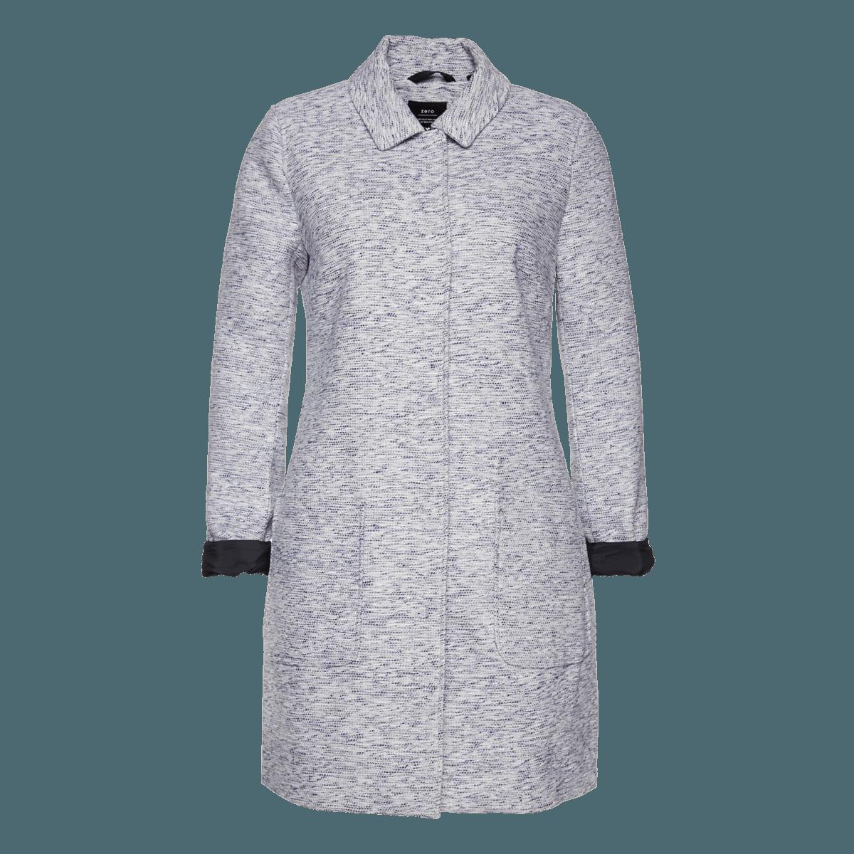 Mantel in Bouclé-Optik in lily blue-m