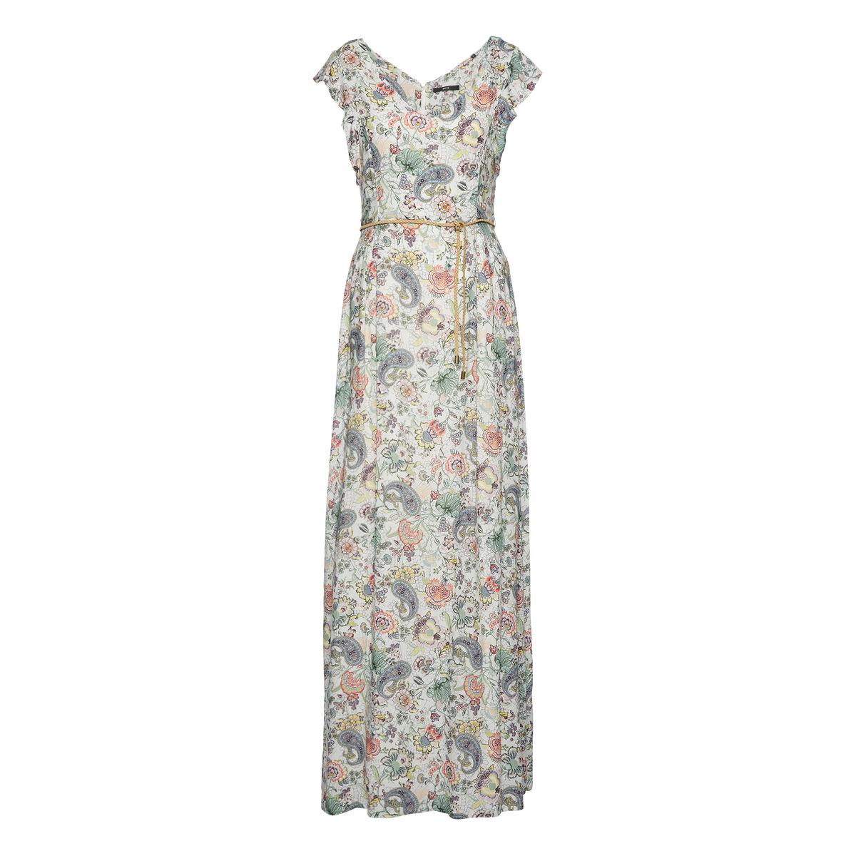 Kleid mit Blüten-Print in offwhite