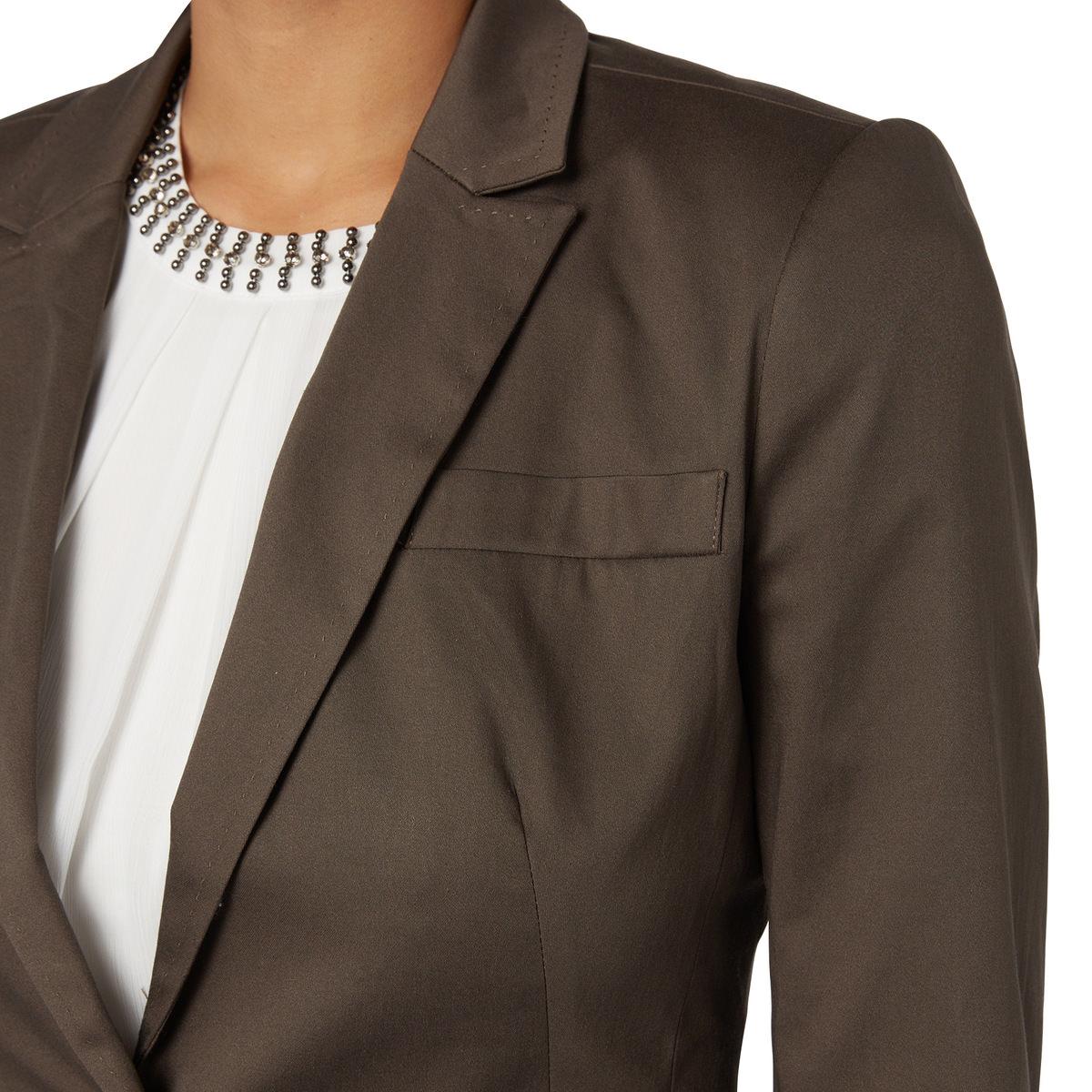 Blazer Ava aus leichter Baumwolle in nut brown